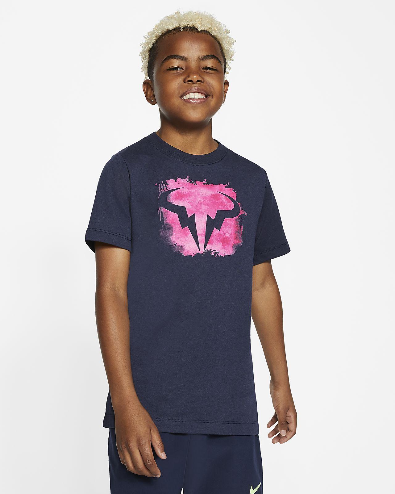 Tenisové tričko NikeCourt Dri-FIT Rafa pro větší děti (chlapce)