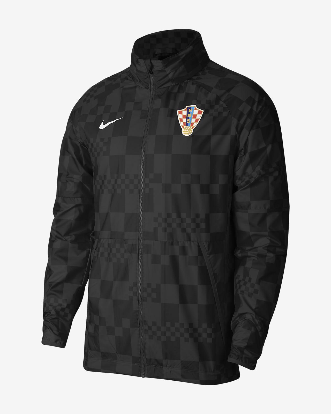 Veste de football déperlante Croatie pour Homme