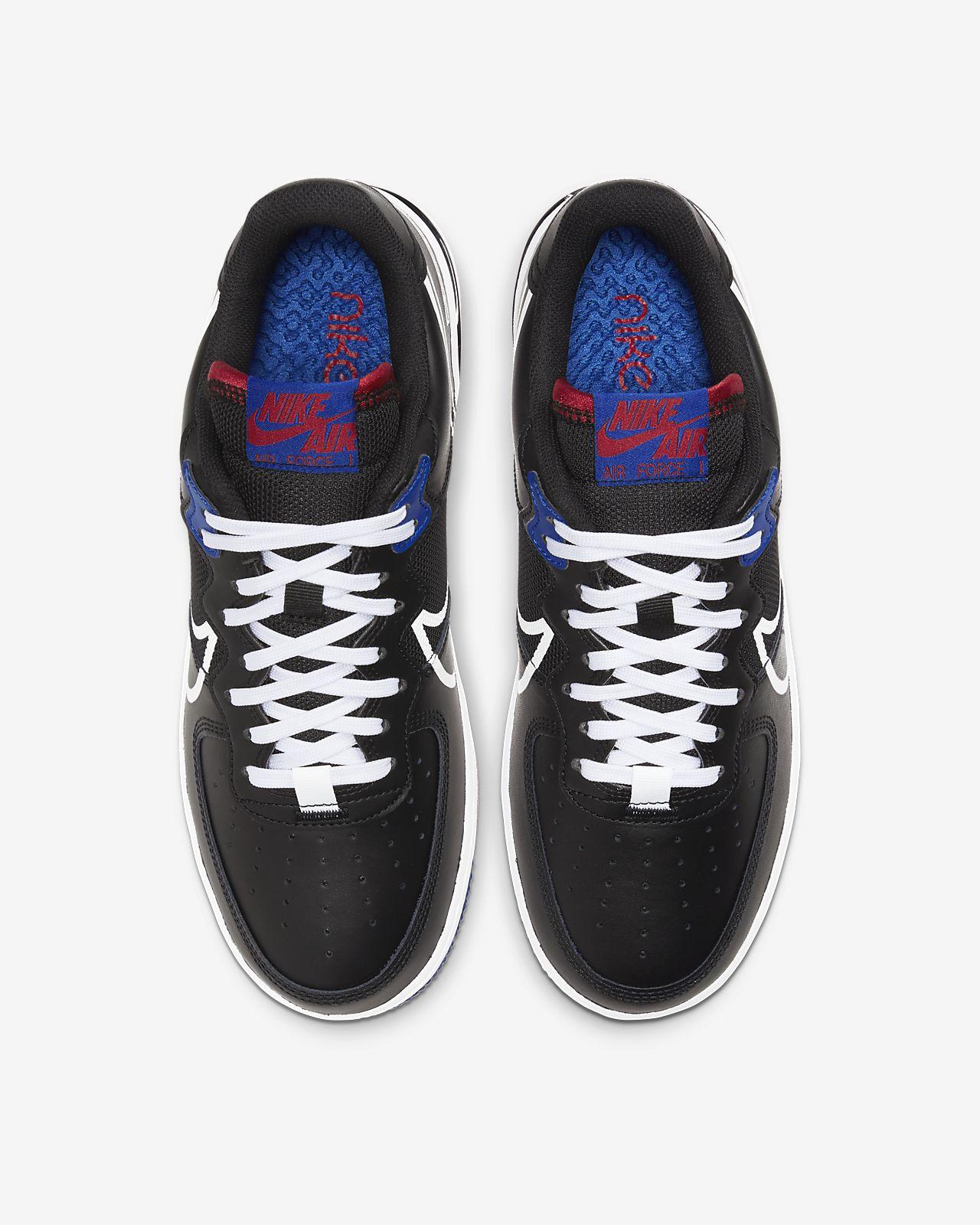 Nike Air Force 1 Low React Black White Gym Red Gym Blue