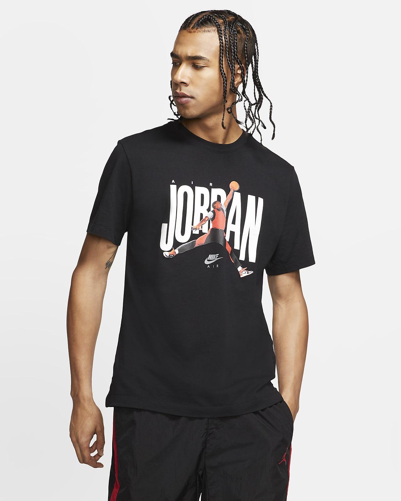 Kortärmad tröja Jordan med rund hals för män
