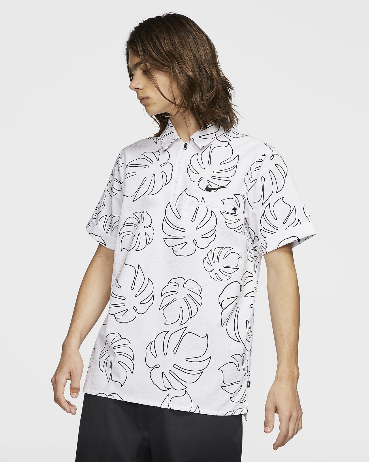 Nike SB vevd skateskjorte til herre