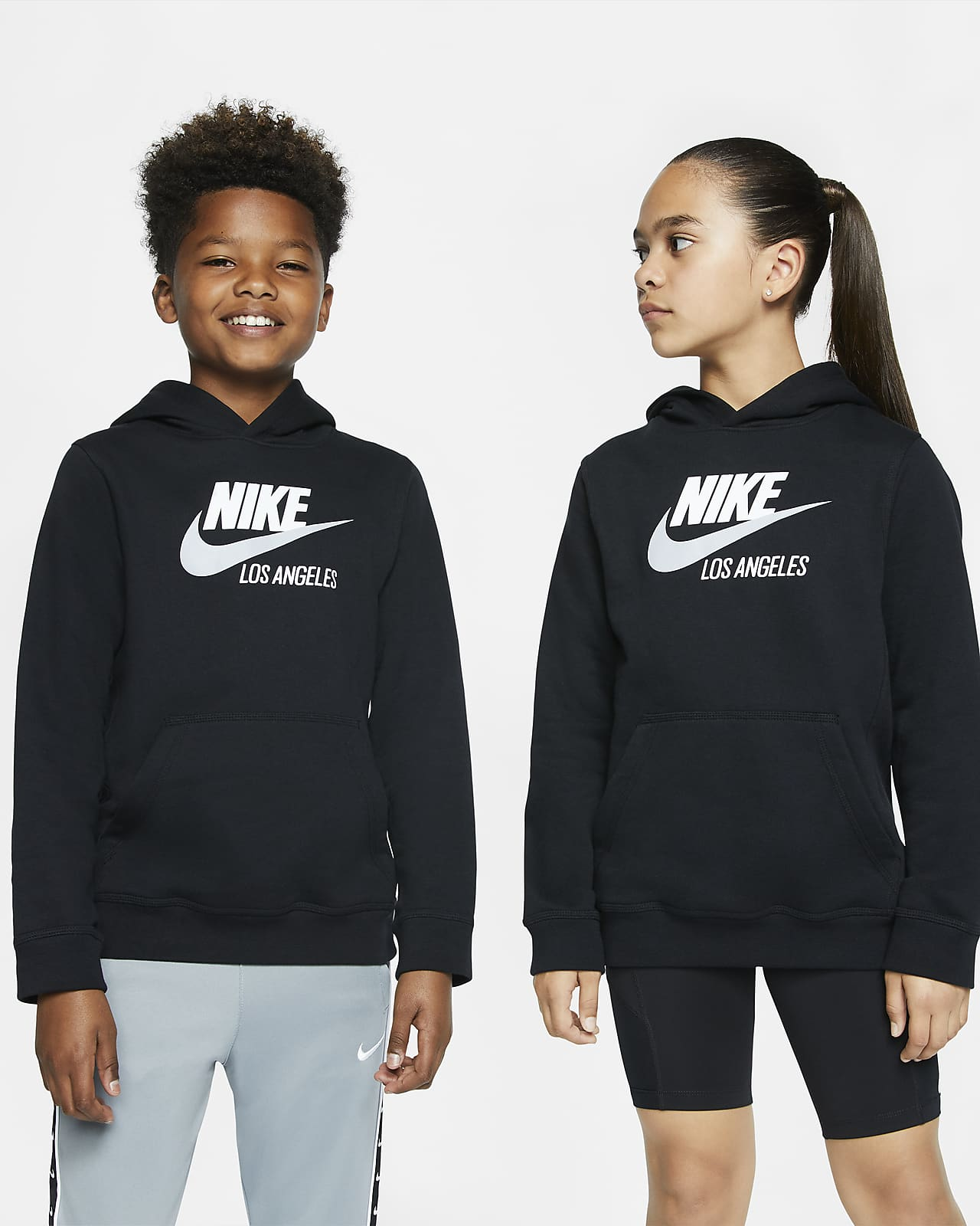 Sudadera con capucha sin cierre para niños talla grande Nike Sportswear Club Fleece Los Angeles