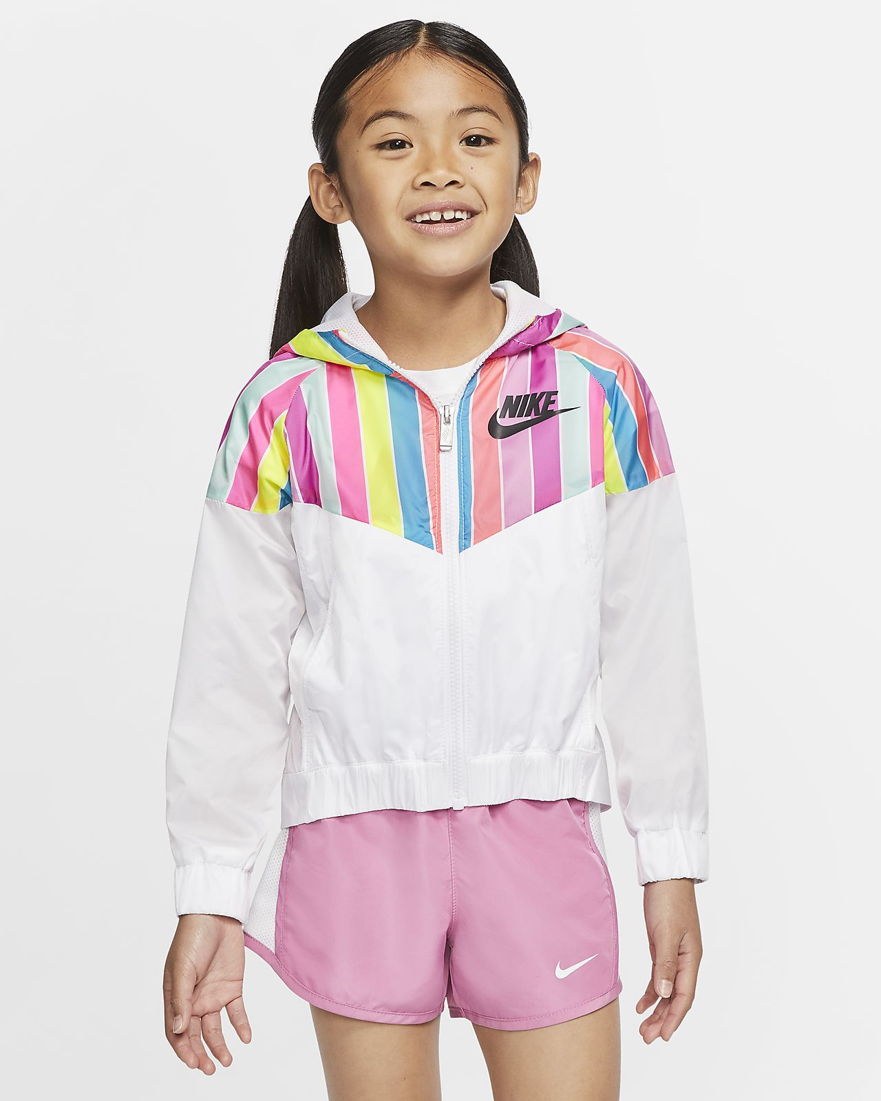 Chamarra para niños talla pequeña Nike Sportswear Windrunner