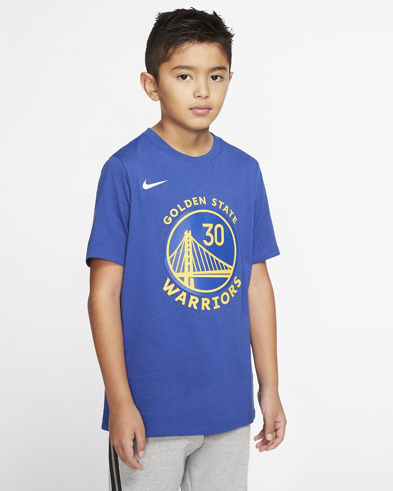 Tee-shirt NBA Nike Dri-FIT Stephen Curry Warriors City Edition pour Enfant plus âgé