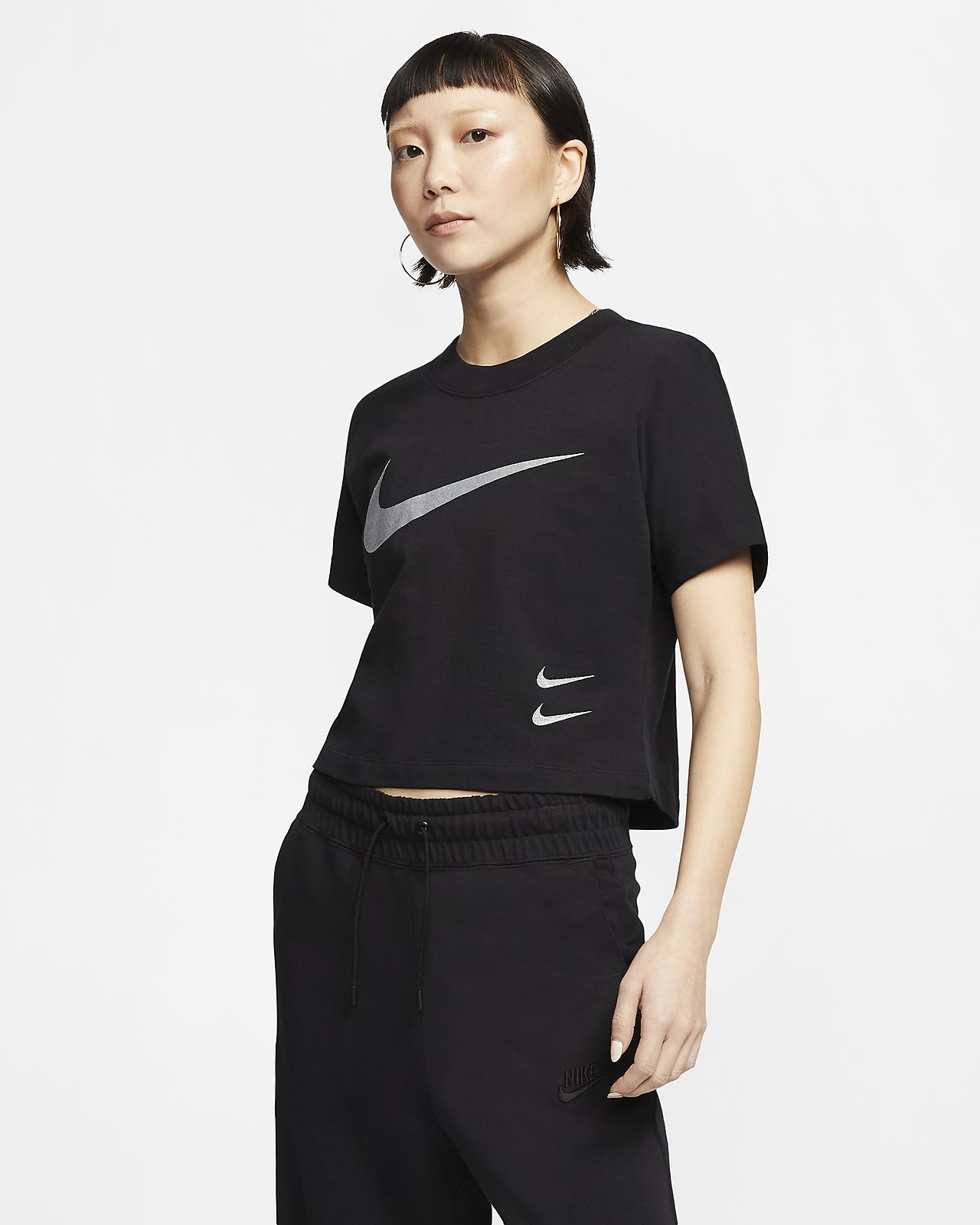Nike Women's Short-Sleeve Swoosh Top