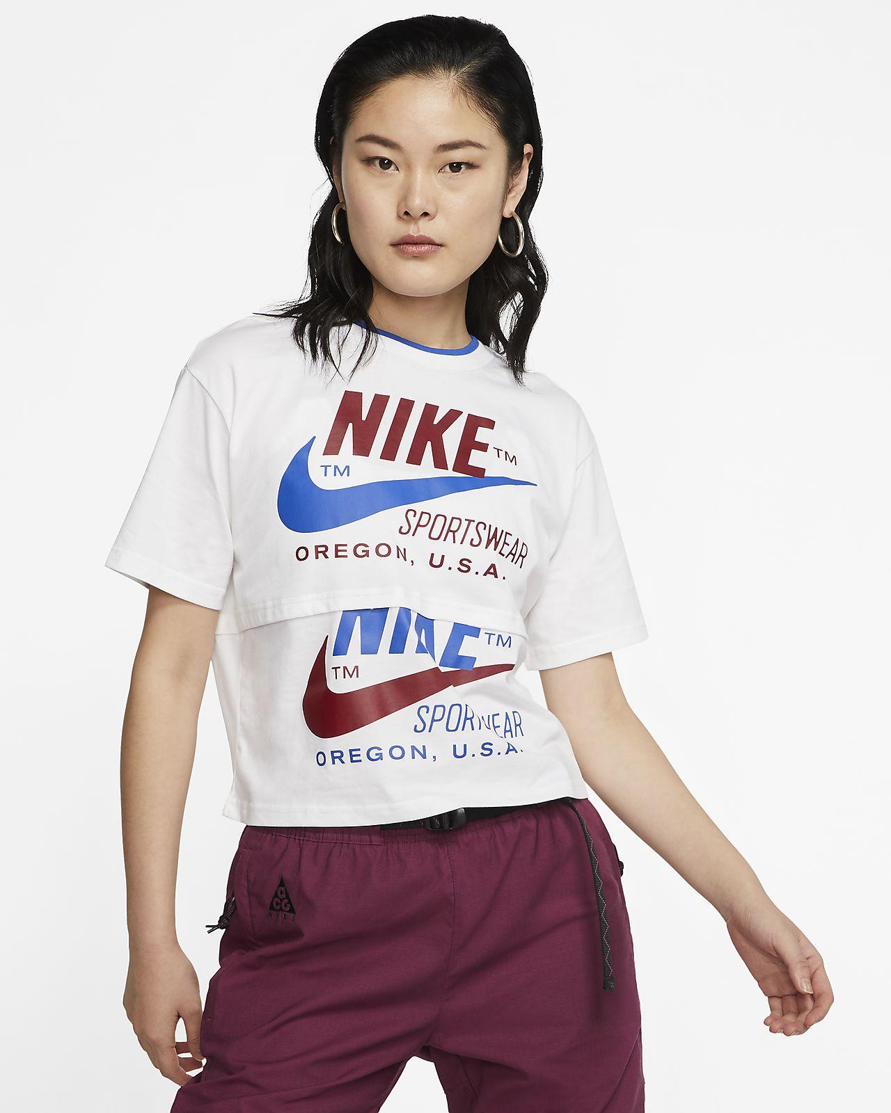 Top a manica corta Nike Sportswear Icon Clash - Donna