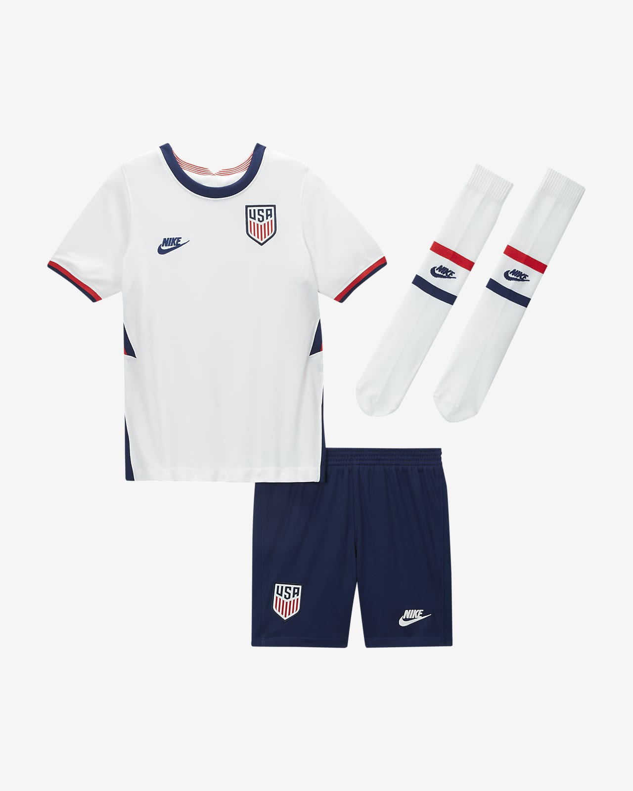U.S. 2020 Home Kids' Soccer Kit