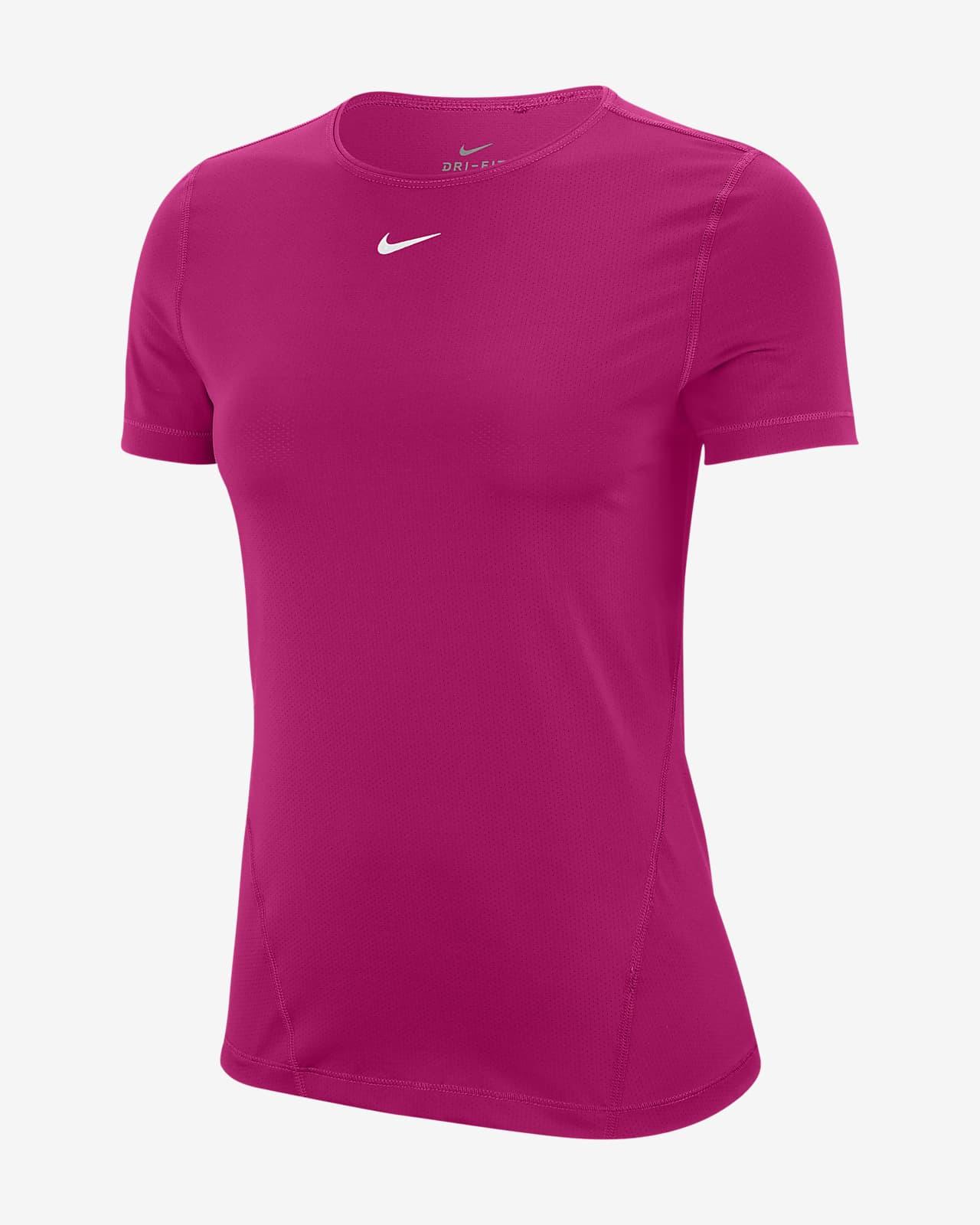 Dámské tréninkové tričko Nike Pro skrátkým rukávem