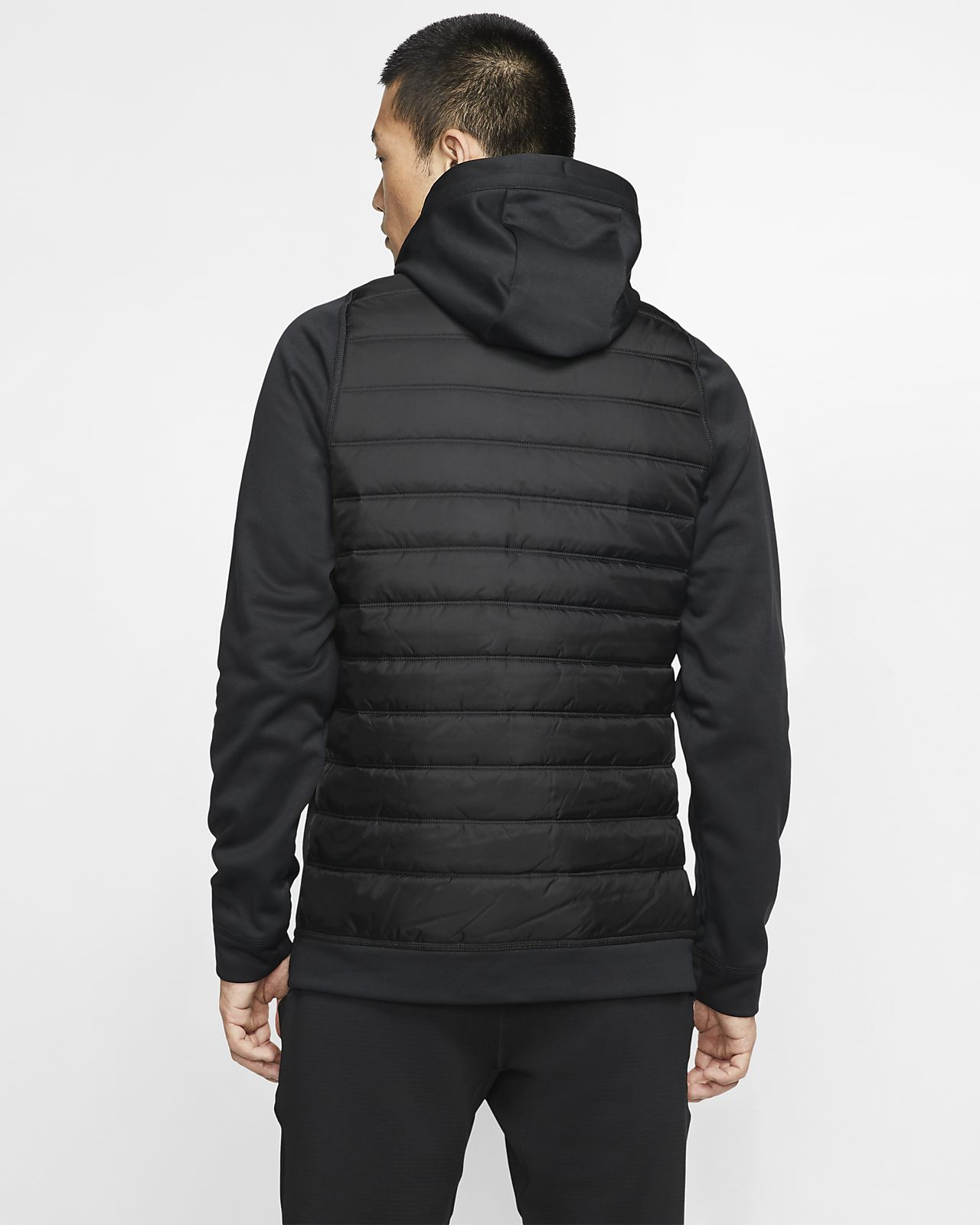 $120 Nike Therma Winterized Full-Zip Hoodie Athletic Jacket Sport Gym Sz M Black