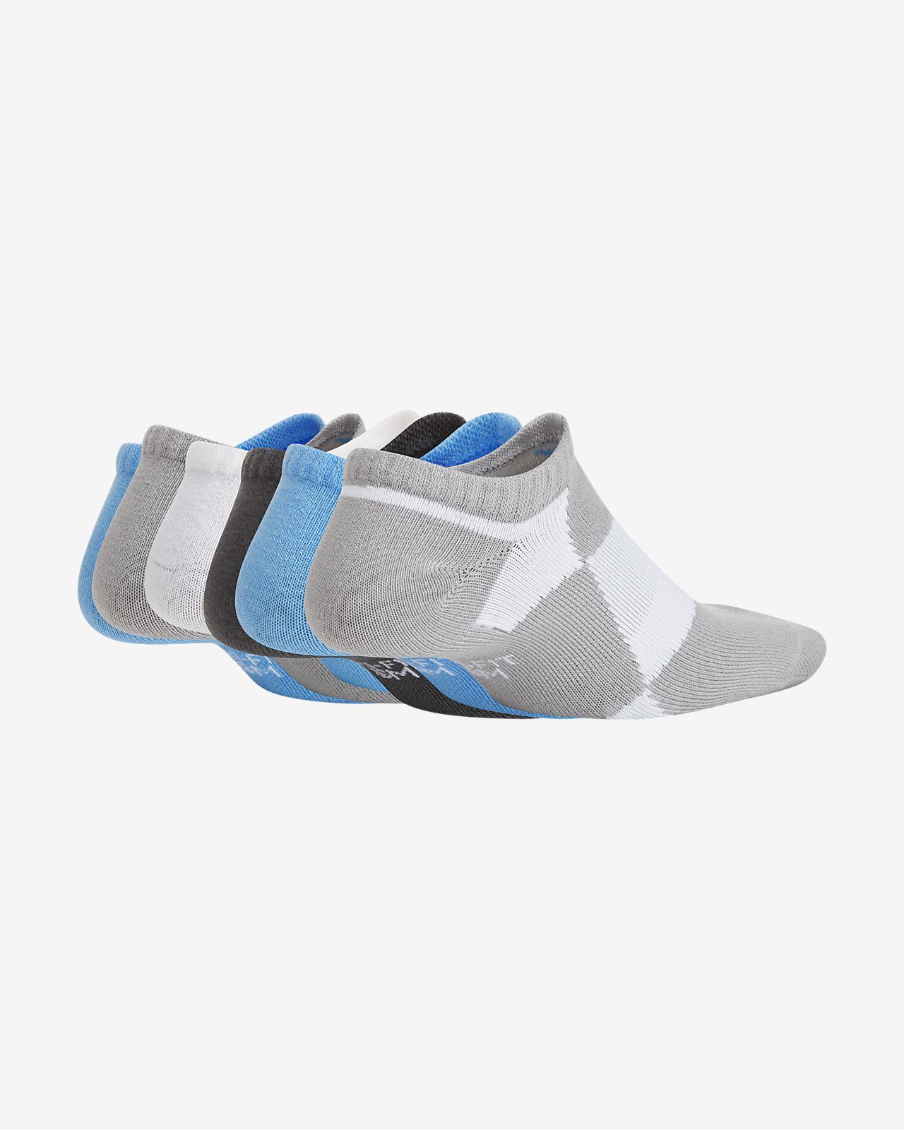 Chaussettes invisibles et légères à motif Nike Everyday pour Enfant plus âgé (6 paires)