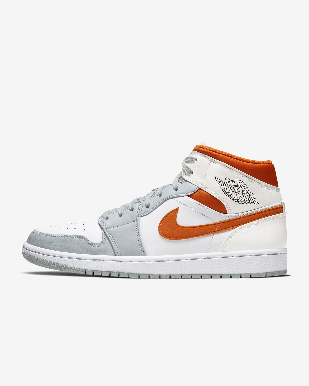air jordan 1 mid orange blanc