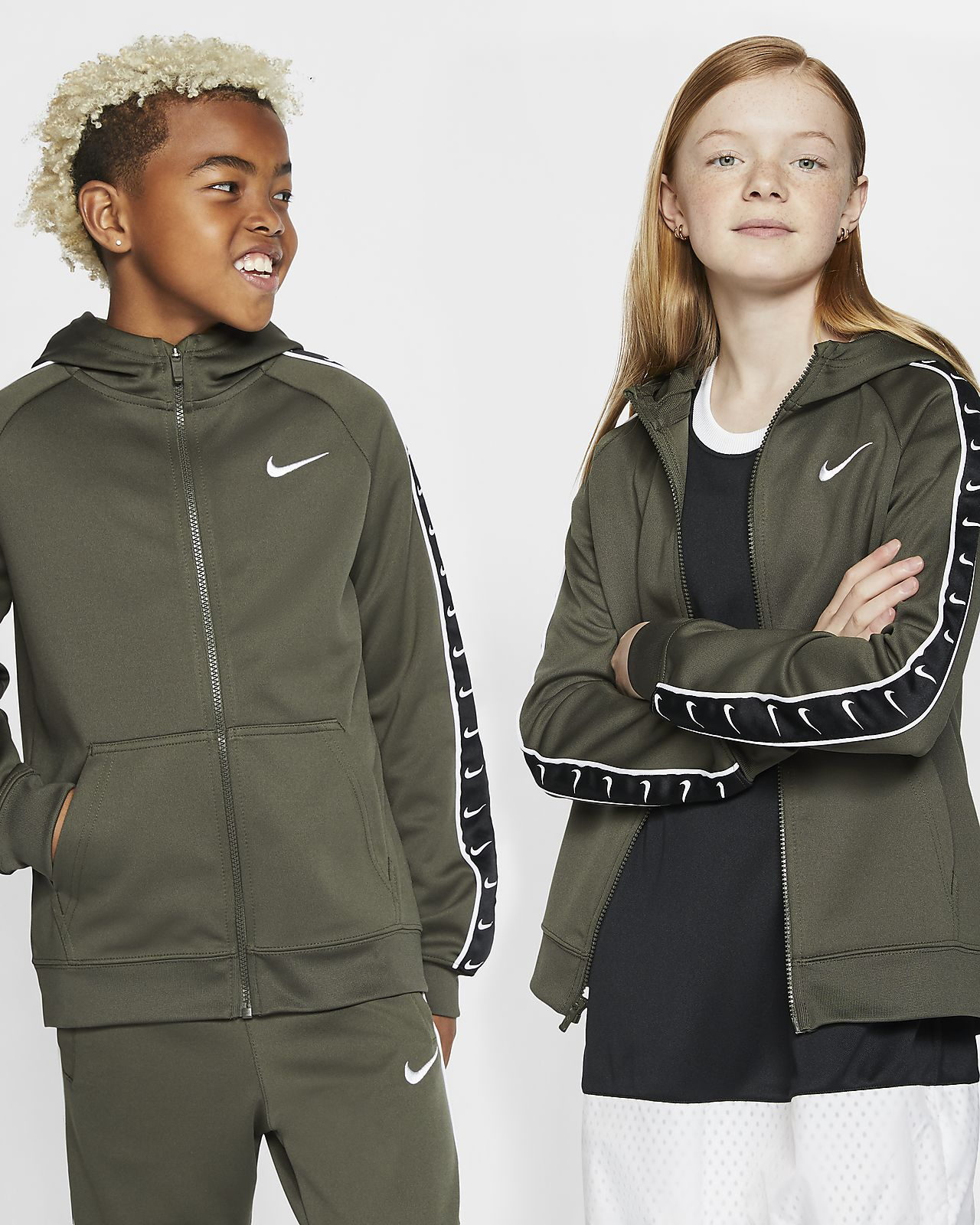 Nike Sportswear Swoosh Older Kids' Full-Zip Hoodie
