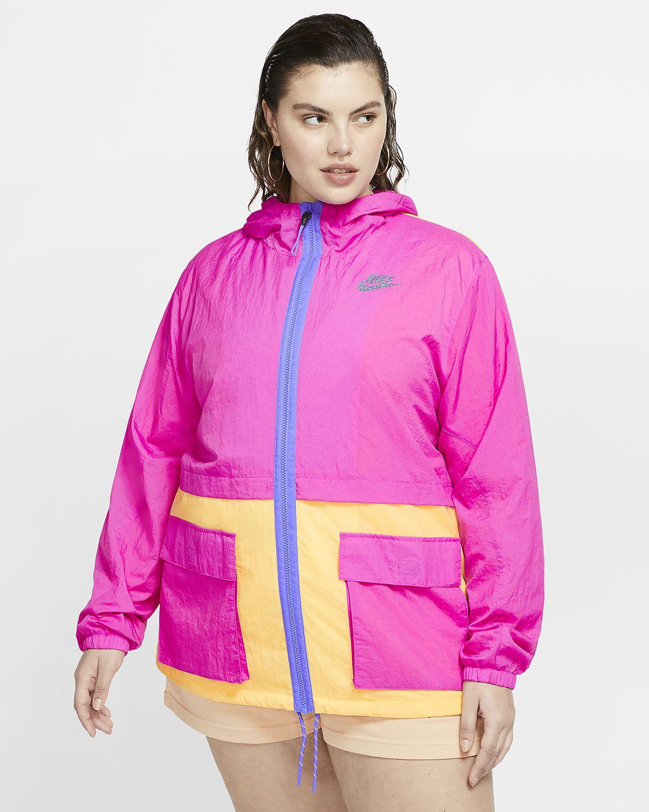 Chamarra de tejido Woven para mujer Nike Sportswear Icon Clash (talla grande)