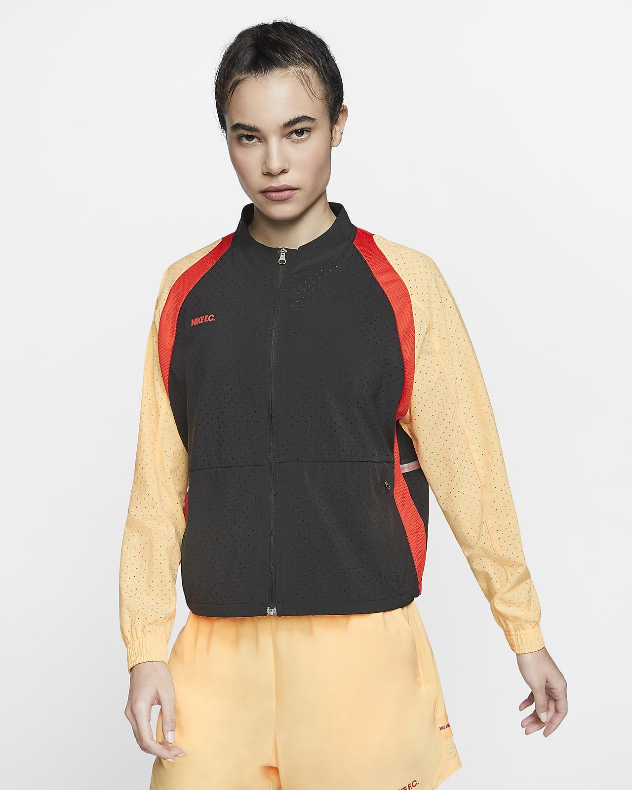 Nike F.C. Deutschland Damen-Fußballjacke mit durchgehendem Reißverschluss