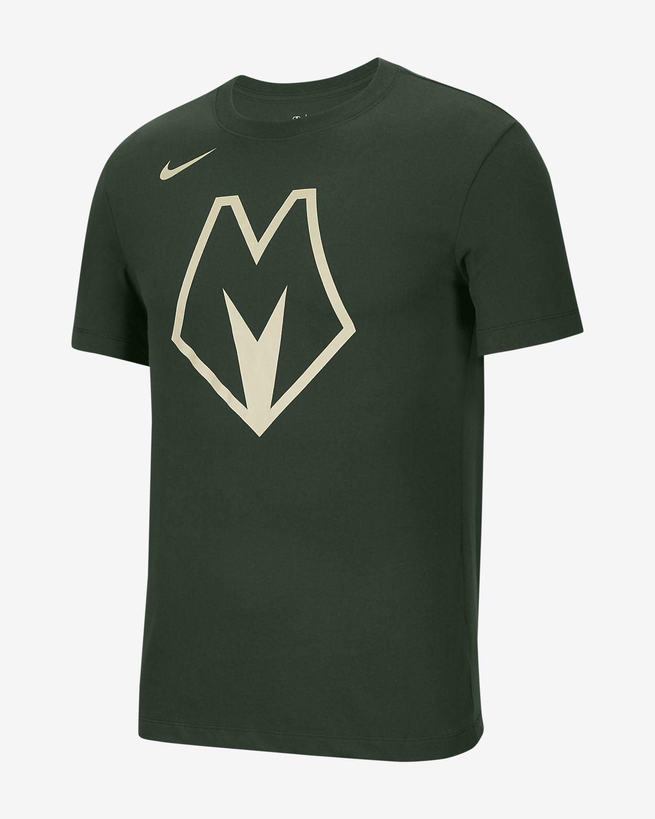เสื้อยืด Nike Dri-FIT NBA ผู้ชาย Bucks City Edition Logo