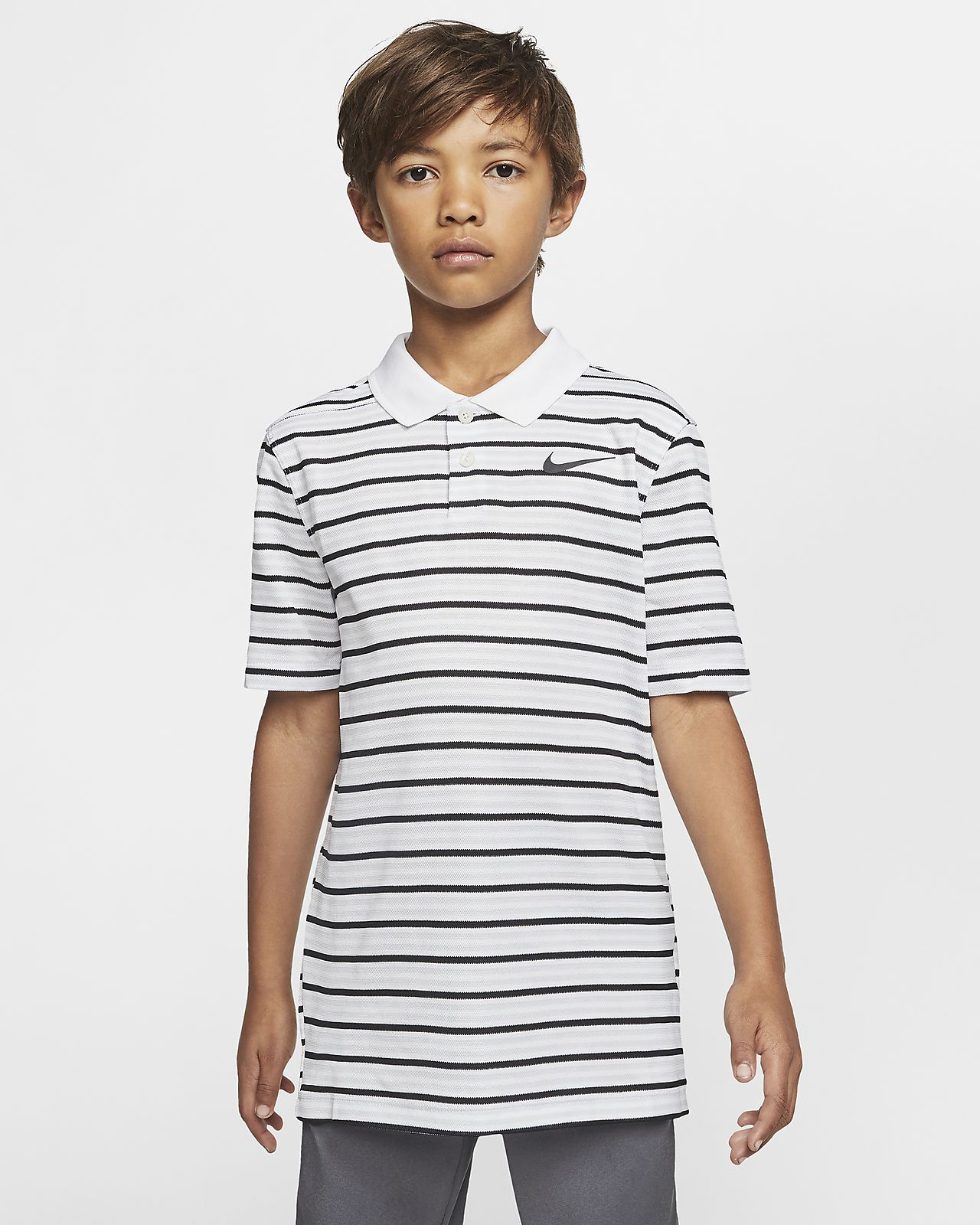 Nike Dri-FIT Victory Boys' Striped Golf Polo