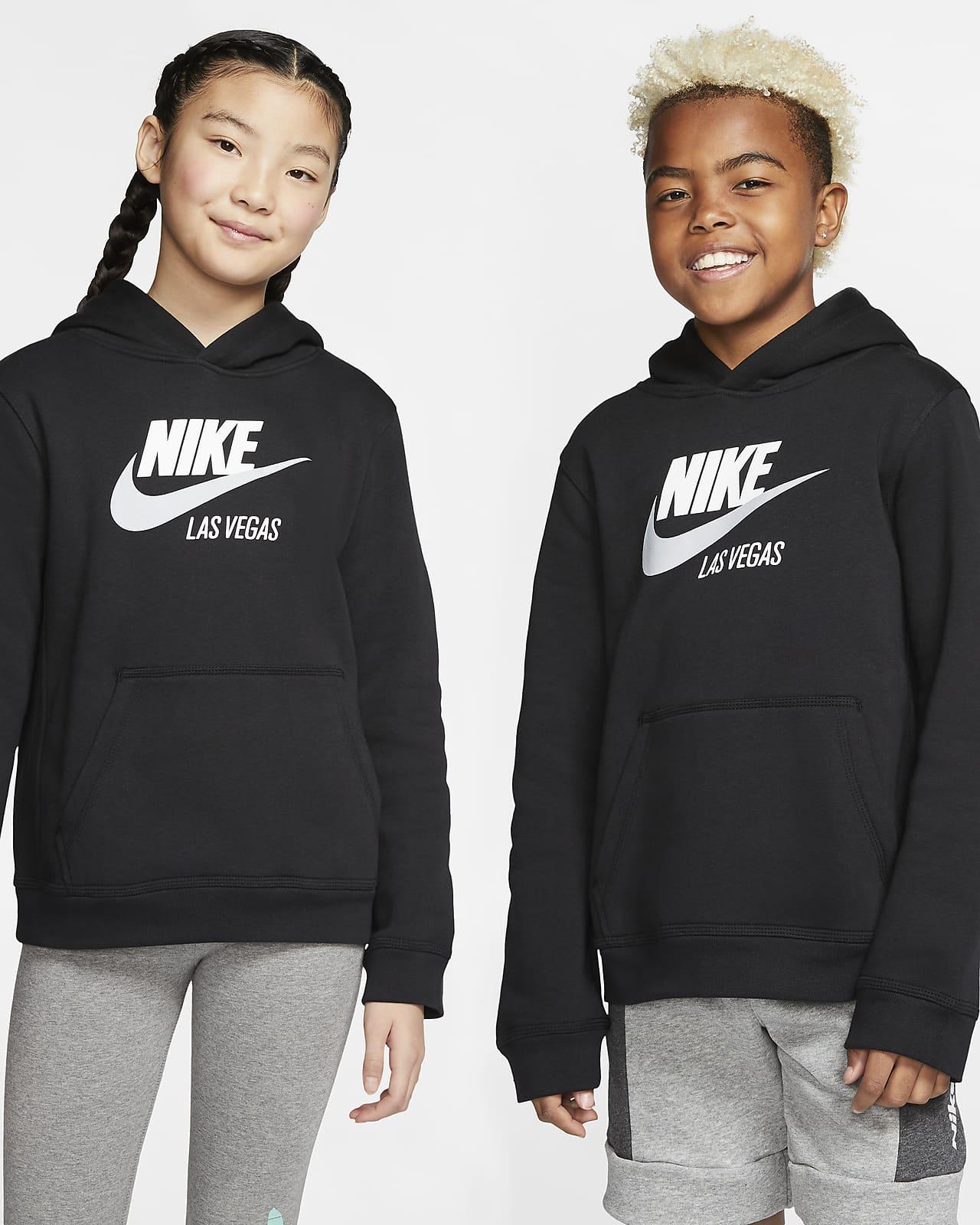Sudadera con capucha sin cierre para niños talla grande Nike Sportswear Club Fleece Las Vegas