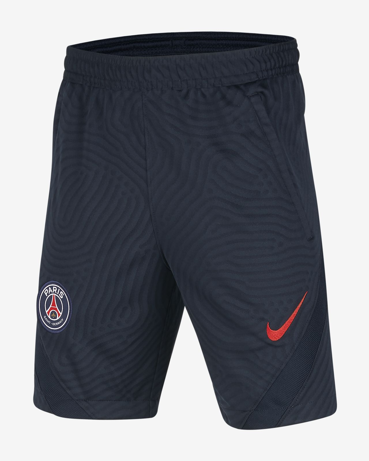 Paris Saint-Germain Strike Older Kids' Jacquard Football Shorts