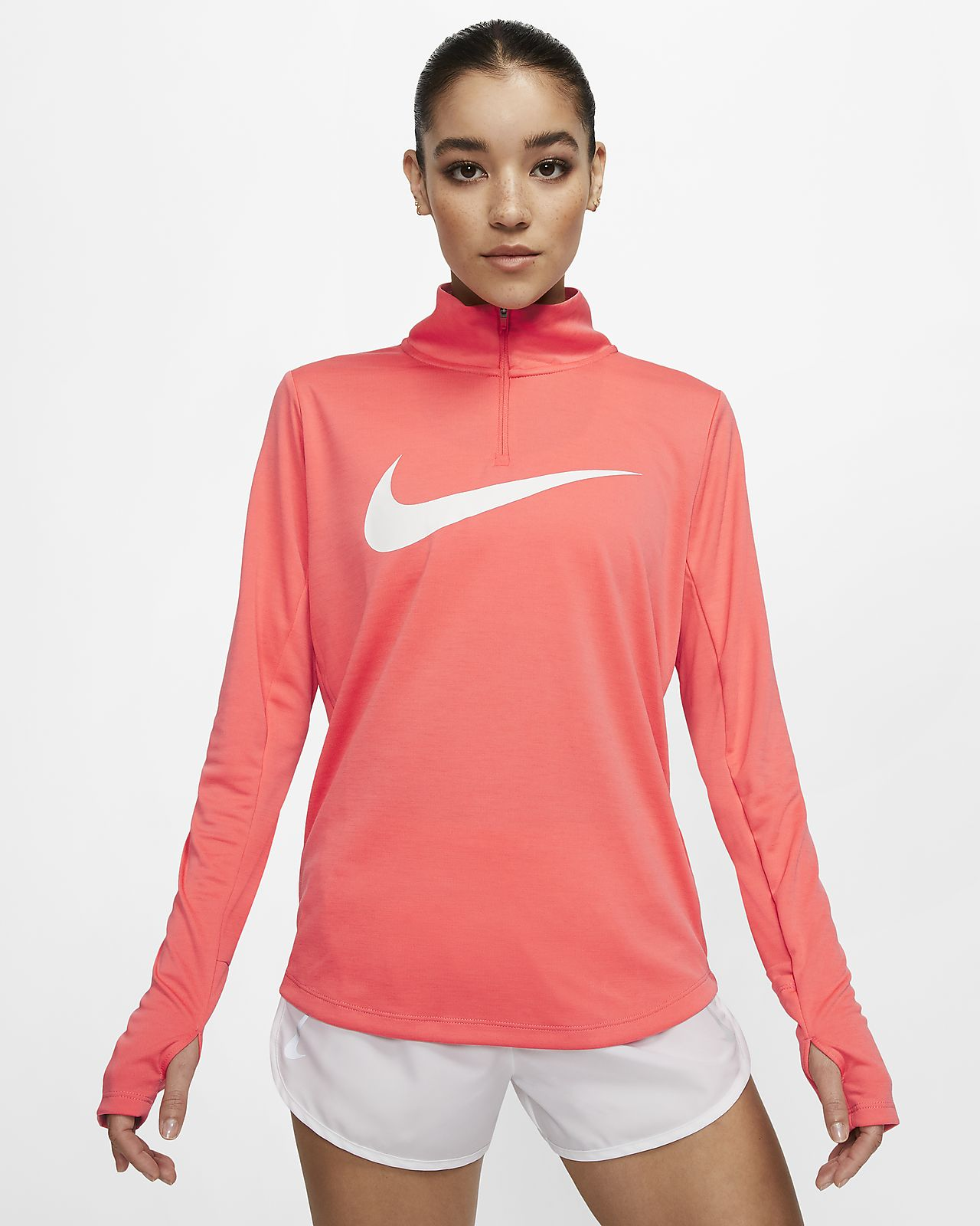Prenda para la parte superior de running con cierre de 1/4 para mujer Nike