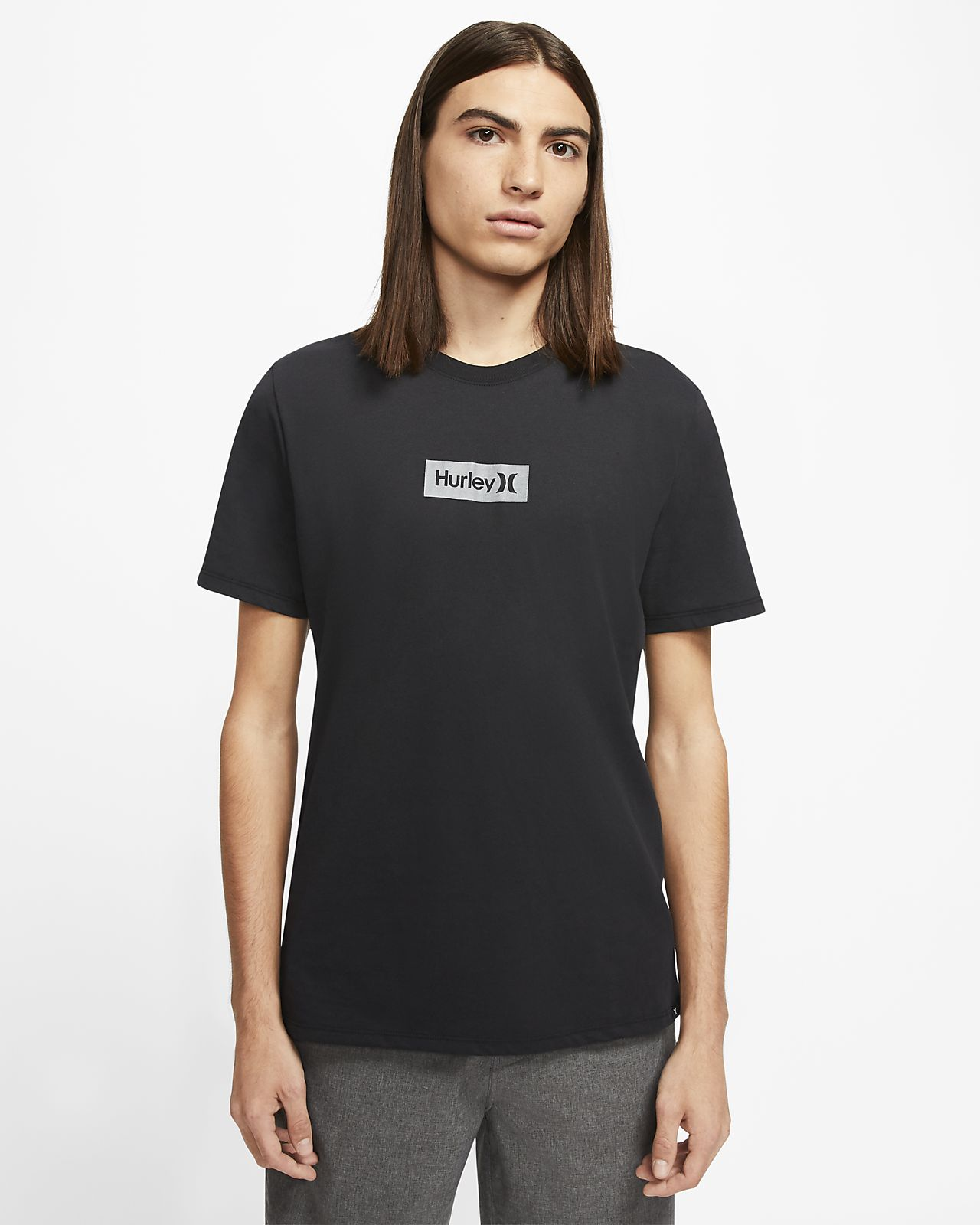 Hurley Dri-FIT One And Only Small Box Reflective Herren-T-Shirt