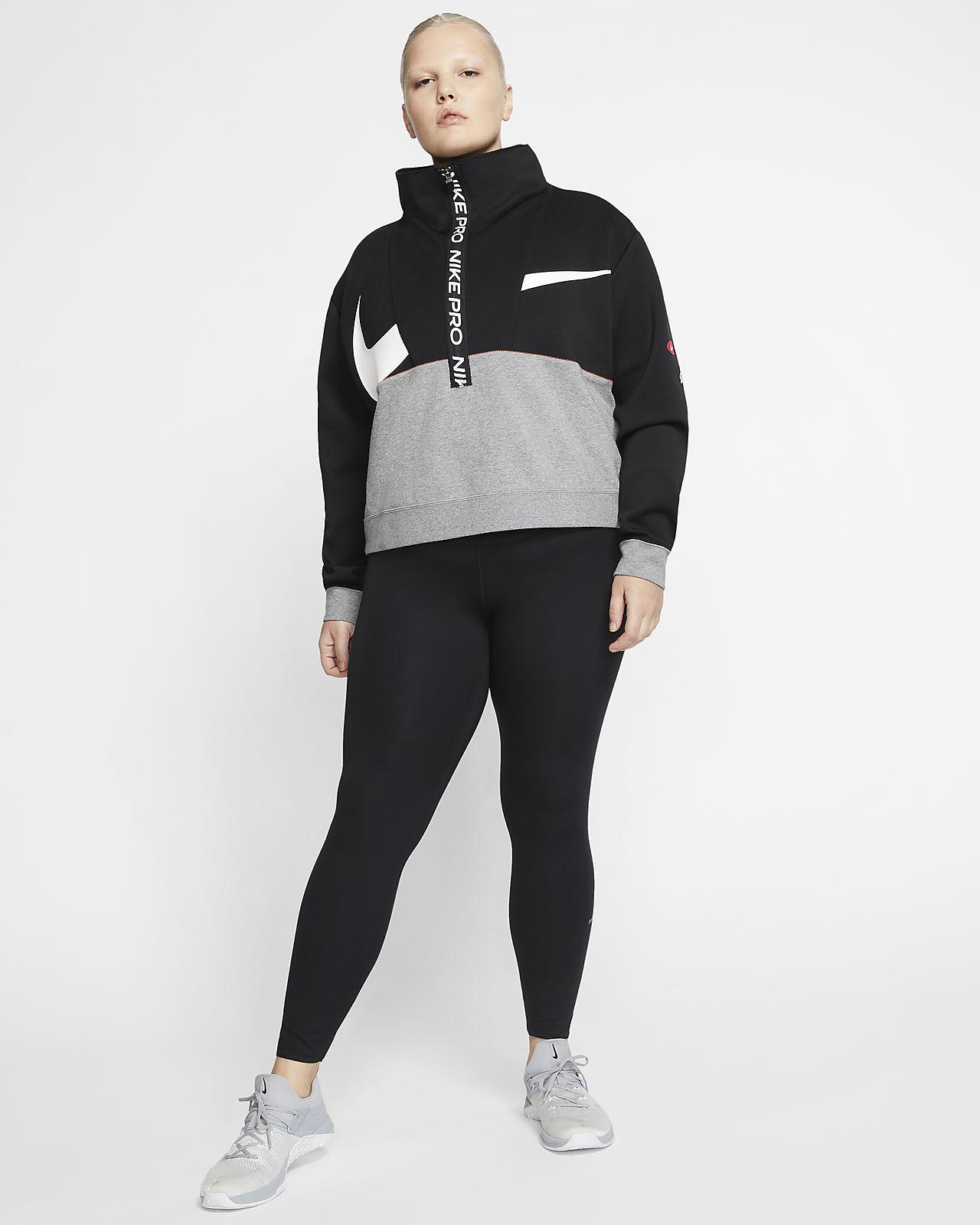 Nike Pro Get Fit Women's Fleece Top (Plus Size)