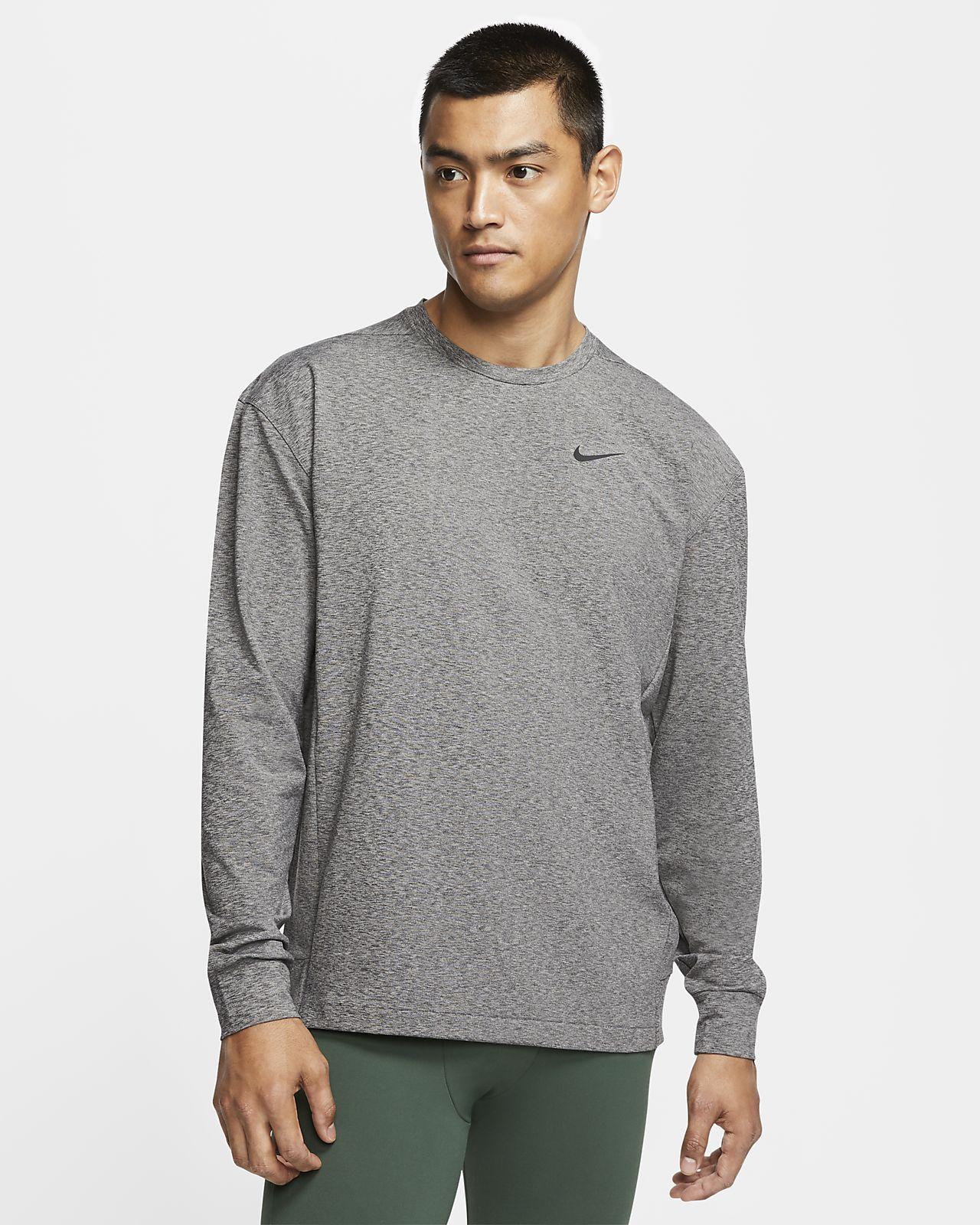 Nike Yoga Dri FIT Langarm Oberteil für Herren