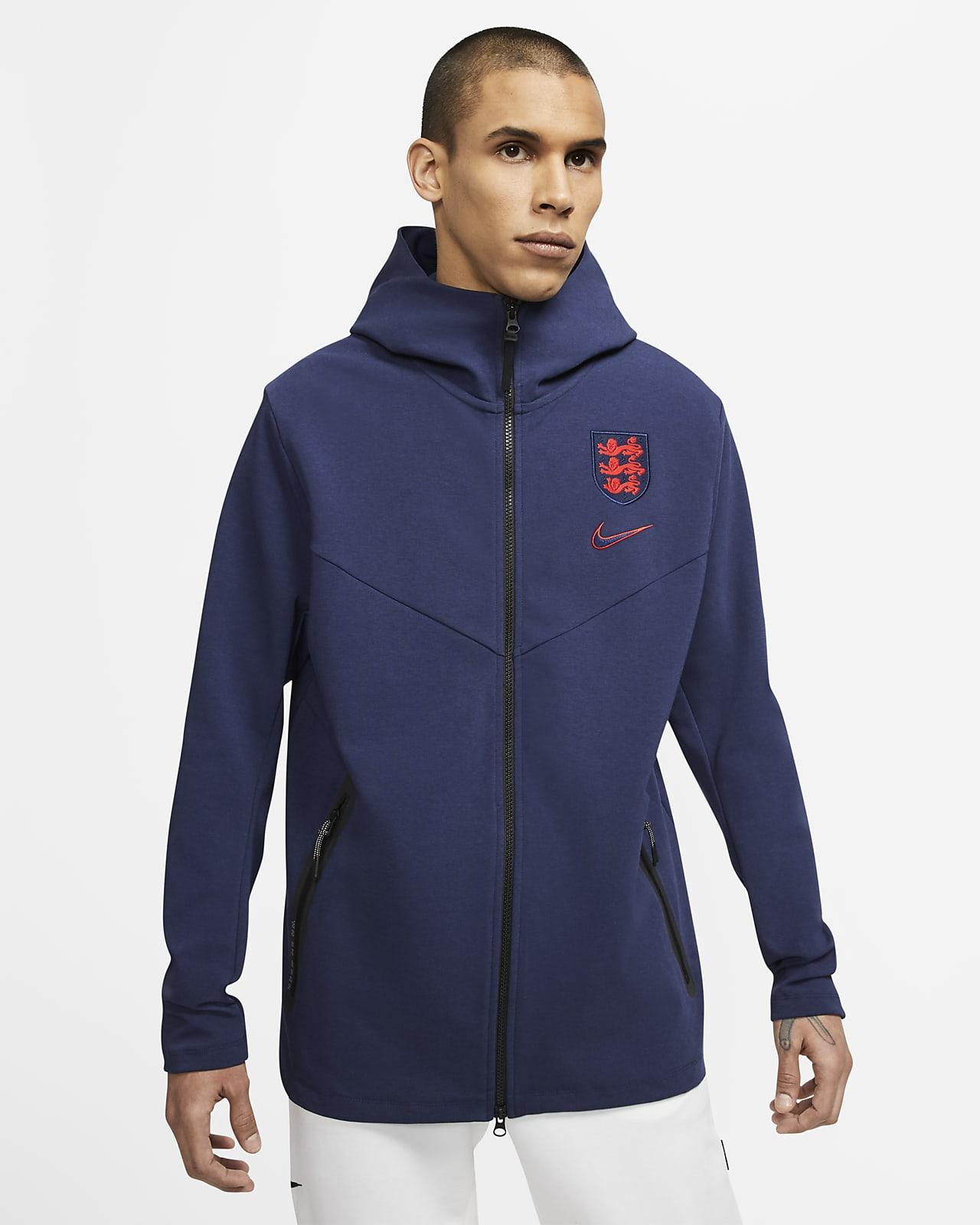 England Tech Pack Herren-Hoodie mit durchgehendem Reißverschluss