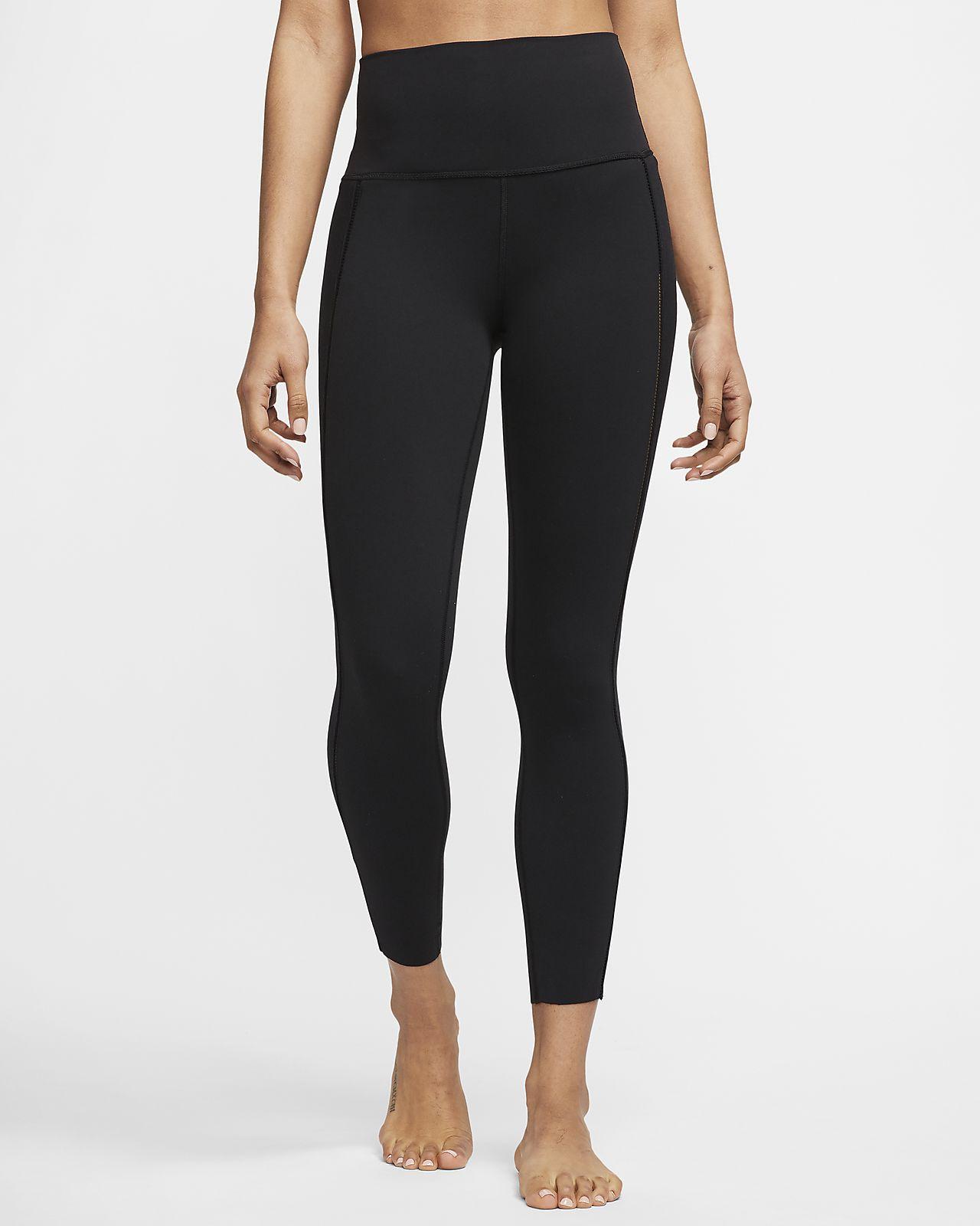 Γυναικείο κολάν Infinalon 7/8 σε ριμπ ύφανση Nike Yoga Luxe