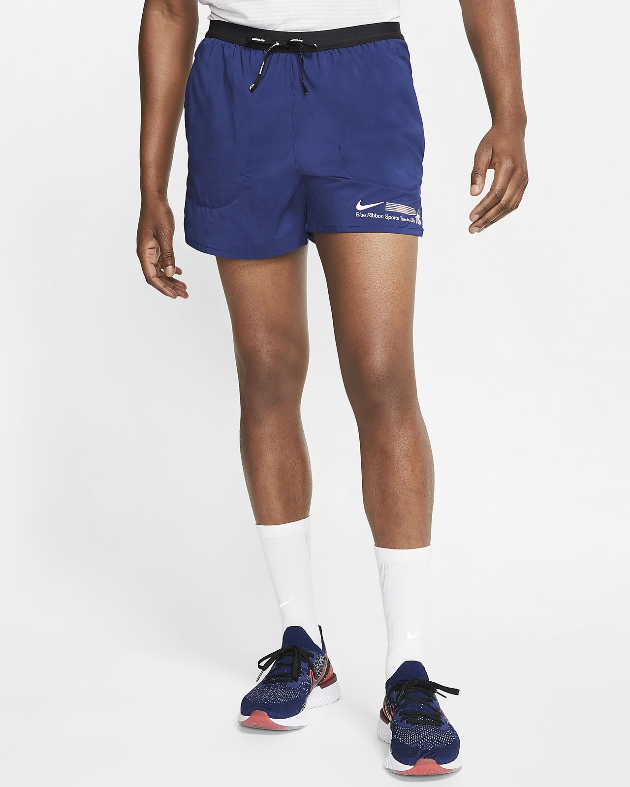 Nike Flex Stride Blue Ribbon Sports Hardloopshorts met binnenbroek voor heren (13 cm)