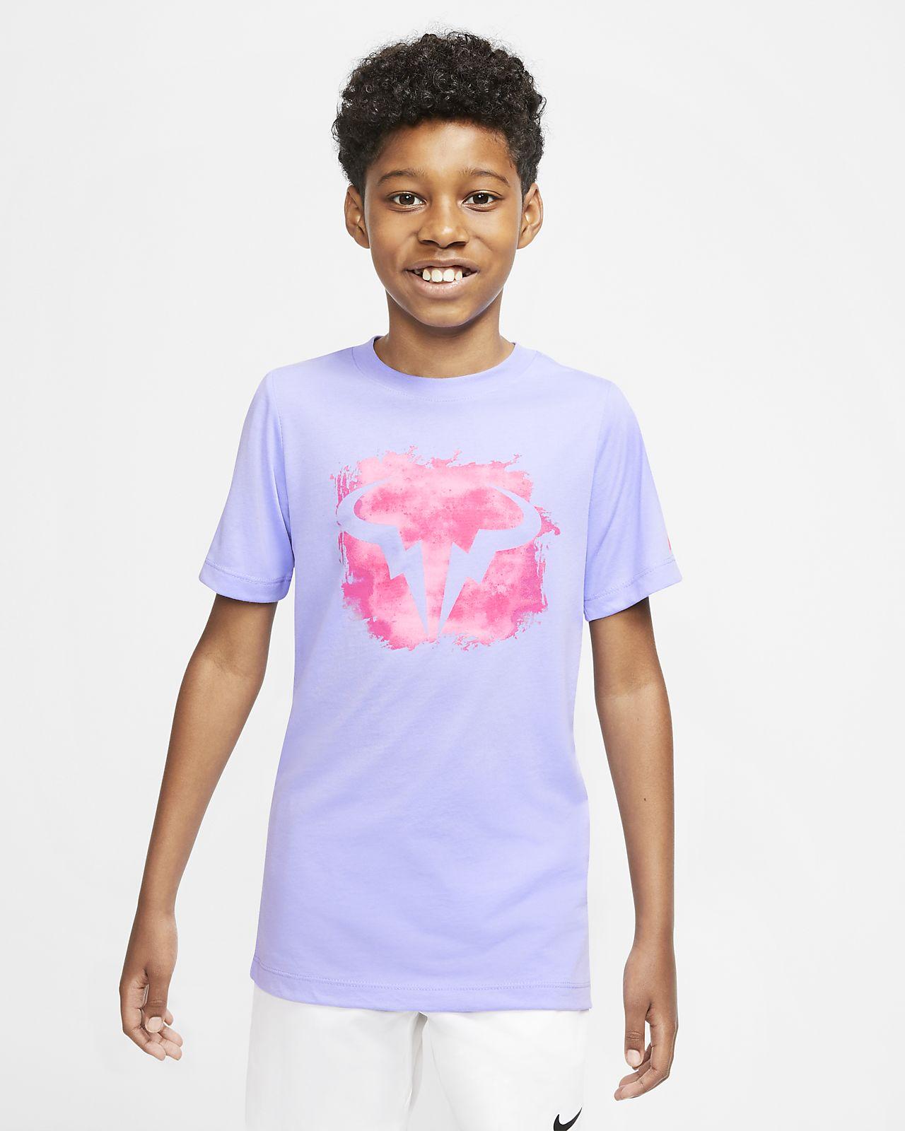 NikeCourt Dri FIT Rafa Older Kids' (Boys') Tennis T Shirt