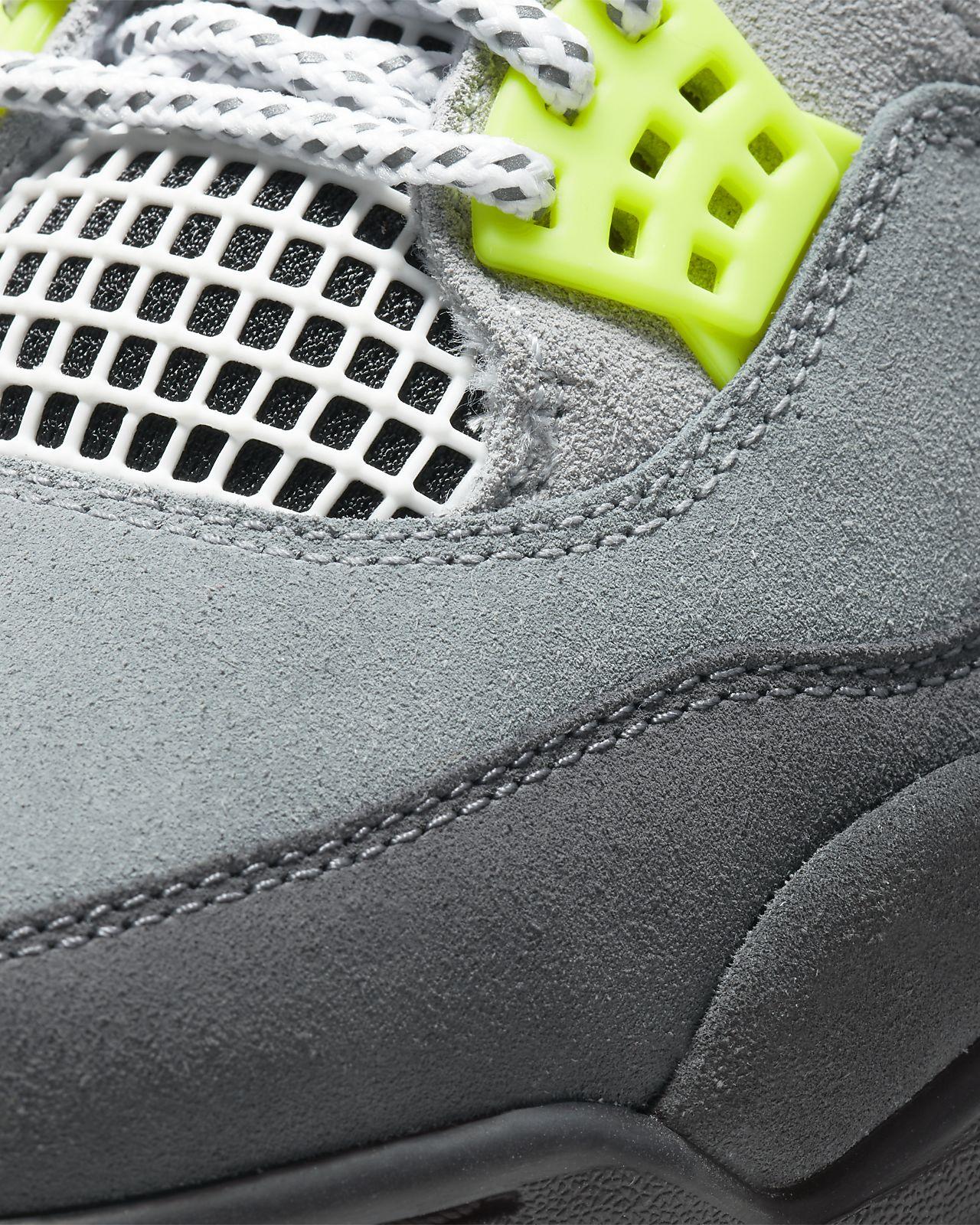Air Jordan 4 Retro Grey Volt First Look