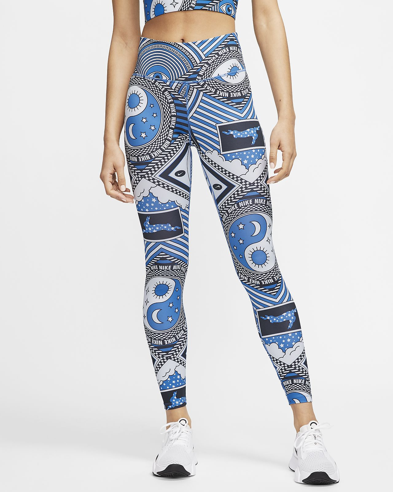 Nike One Women's Mid-Rise 7/8 Printed Tights