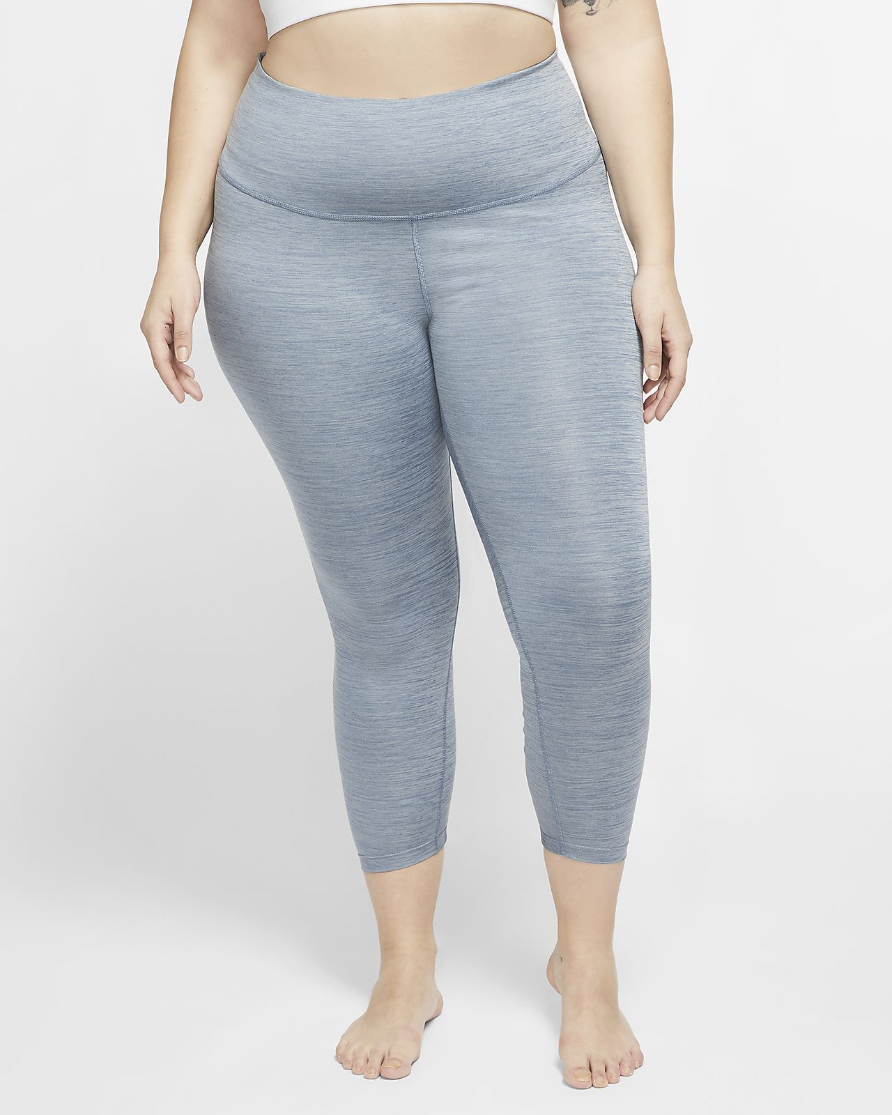Tights increspati a 7/8 Nike Yoga (Plus Size) - Donna