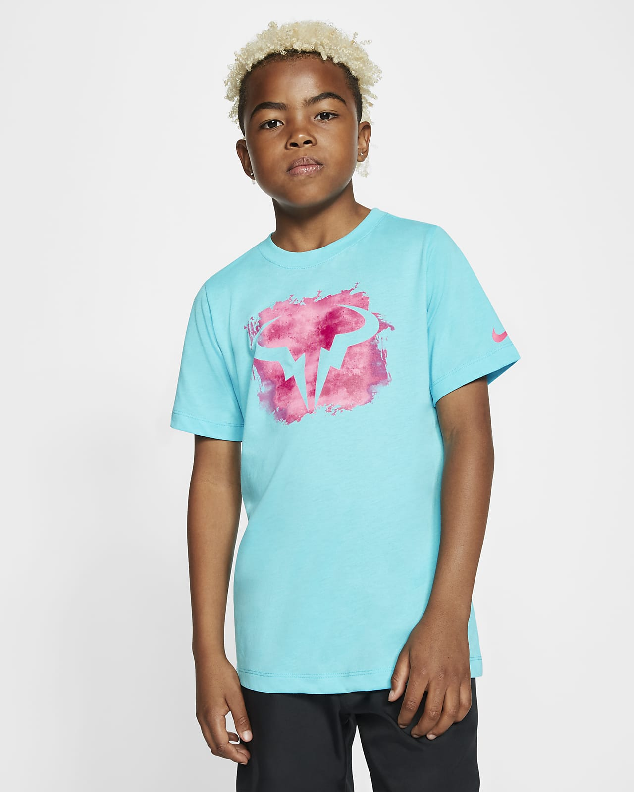Tee-shirt de tennis NikeCourt Dri-FIT Rafa pour Garçon plus âgé