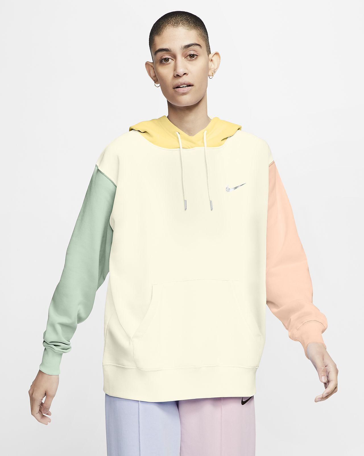 Γυναικεία μπλούζα με κουκούλα και σήμα Swoosh Nike Sportswear