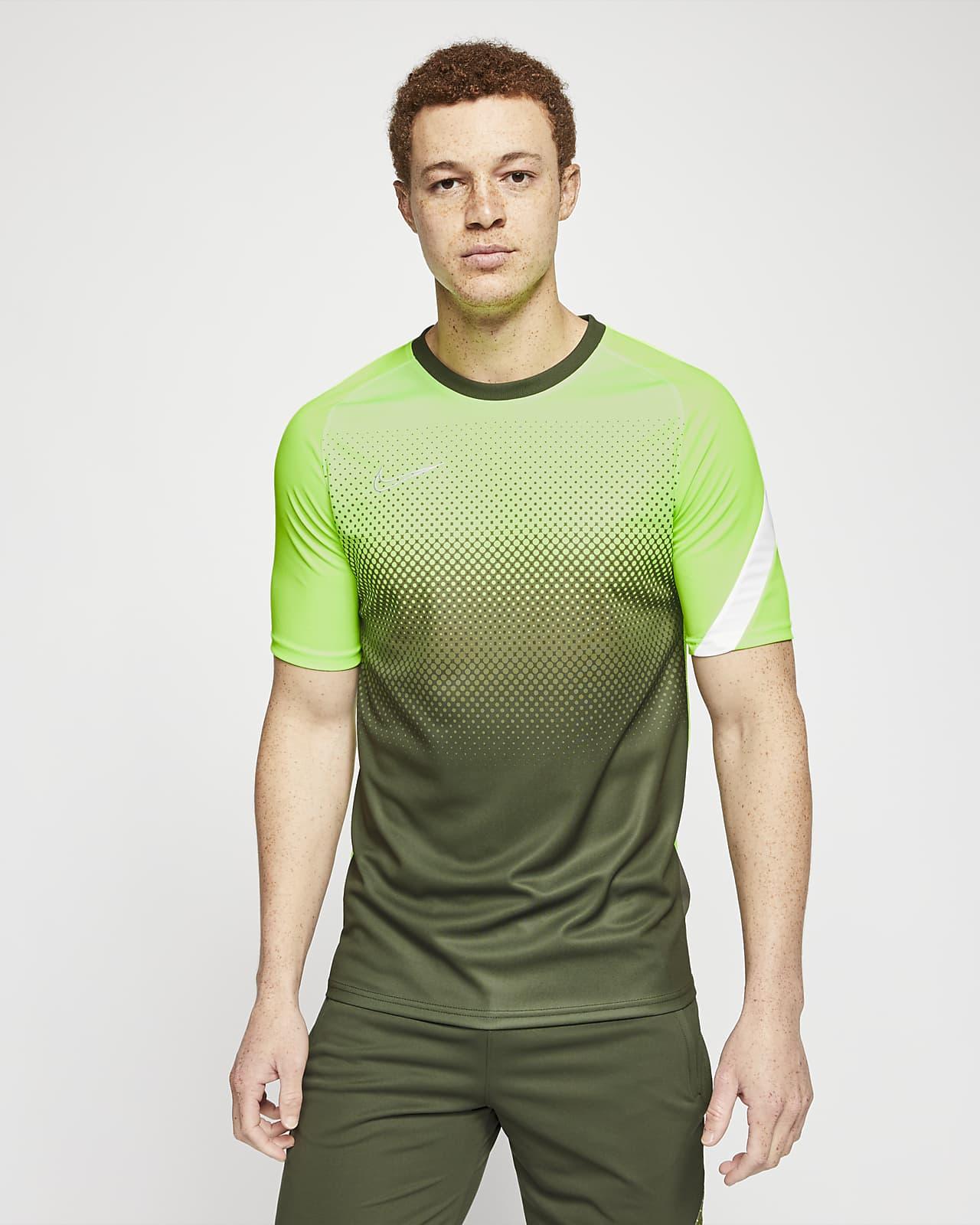 Camiseta de fútbol estampada de manga corta para hombre Nike Dri-FIT Academy
