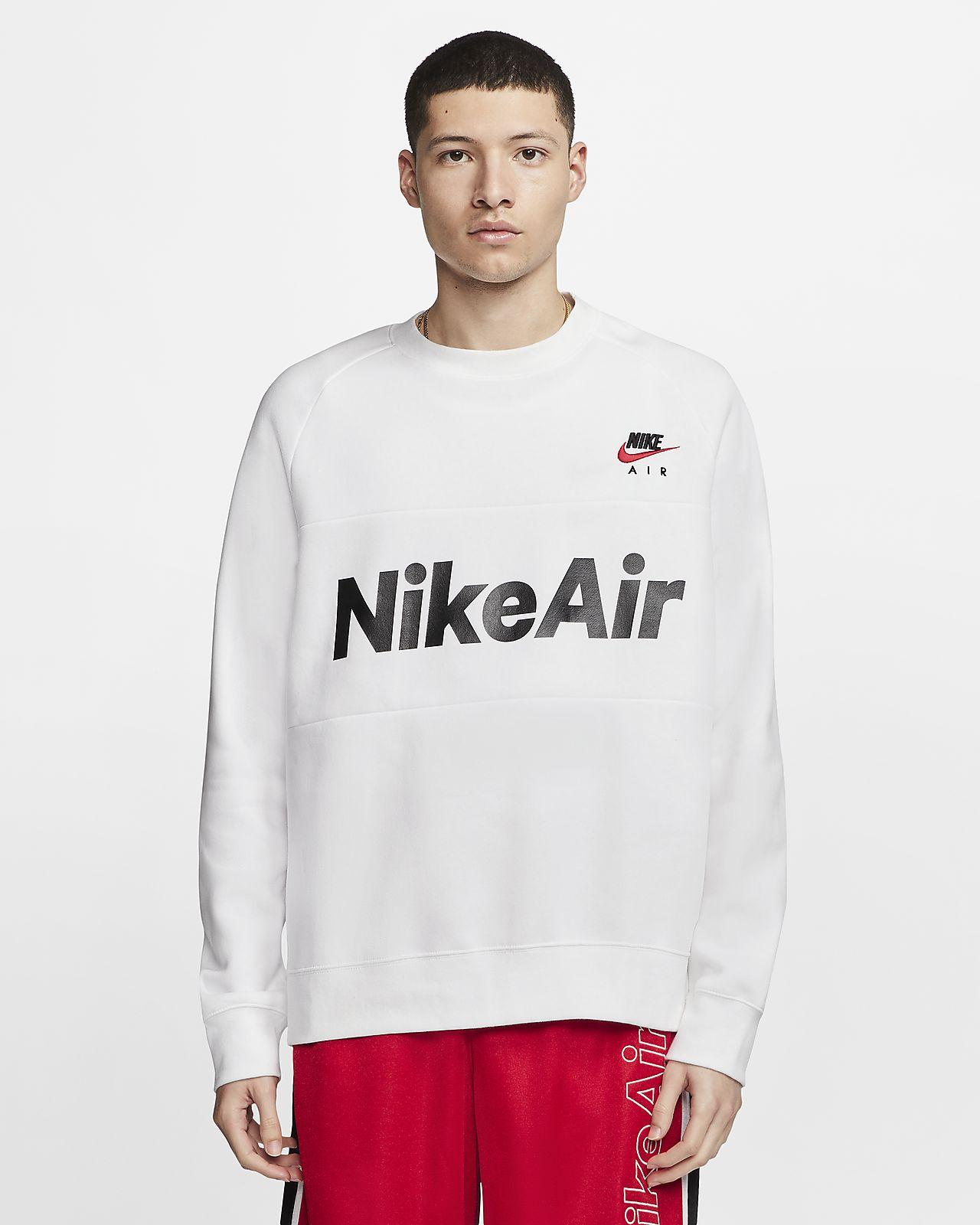Pánská flísová mikina Nike Air s kulatým výstřihem