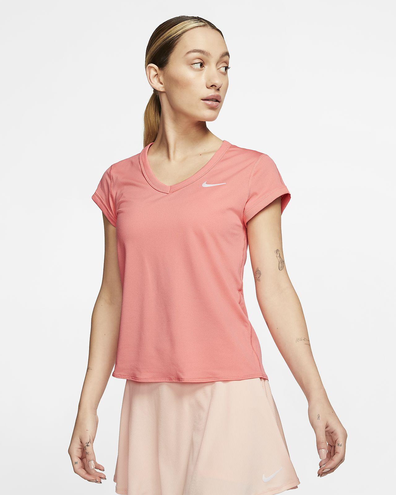 NikeCourt Dri-FIT kortermet tennisoverdel til dame