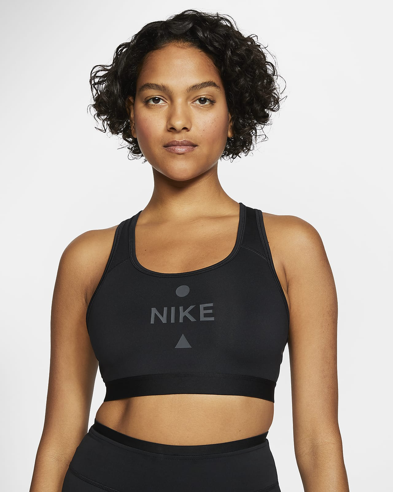 Sujetador deportivo de sujeción media para mujer Nike Swoosh Icon Clash