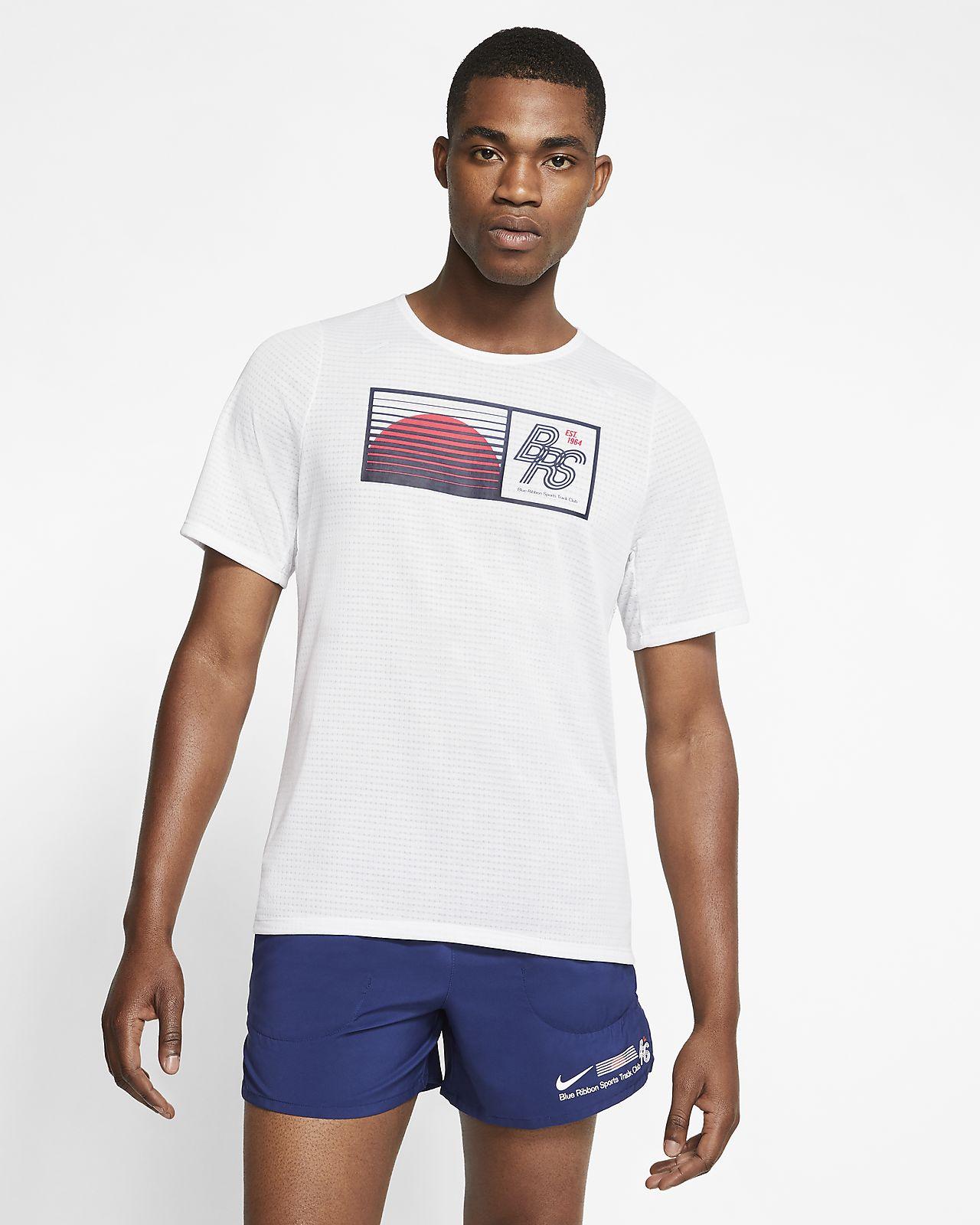 Camiseta de running para hombre Nike Rise 365 Blue Ribbon Sports