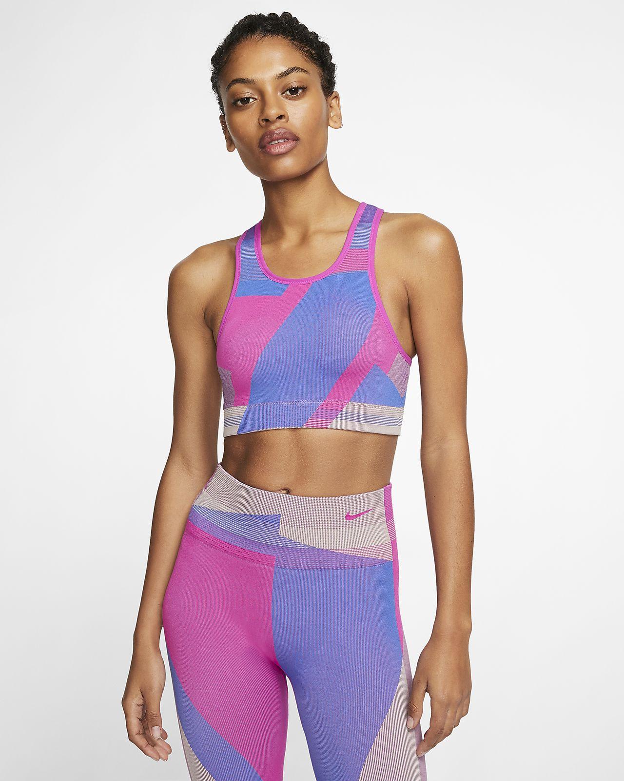 Brassière de sport sans coutures à maintien léger Nike Icon Clash pour Femme