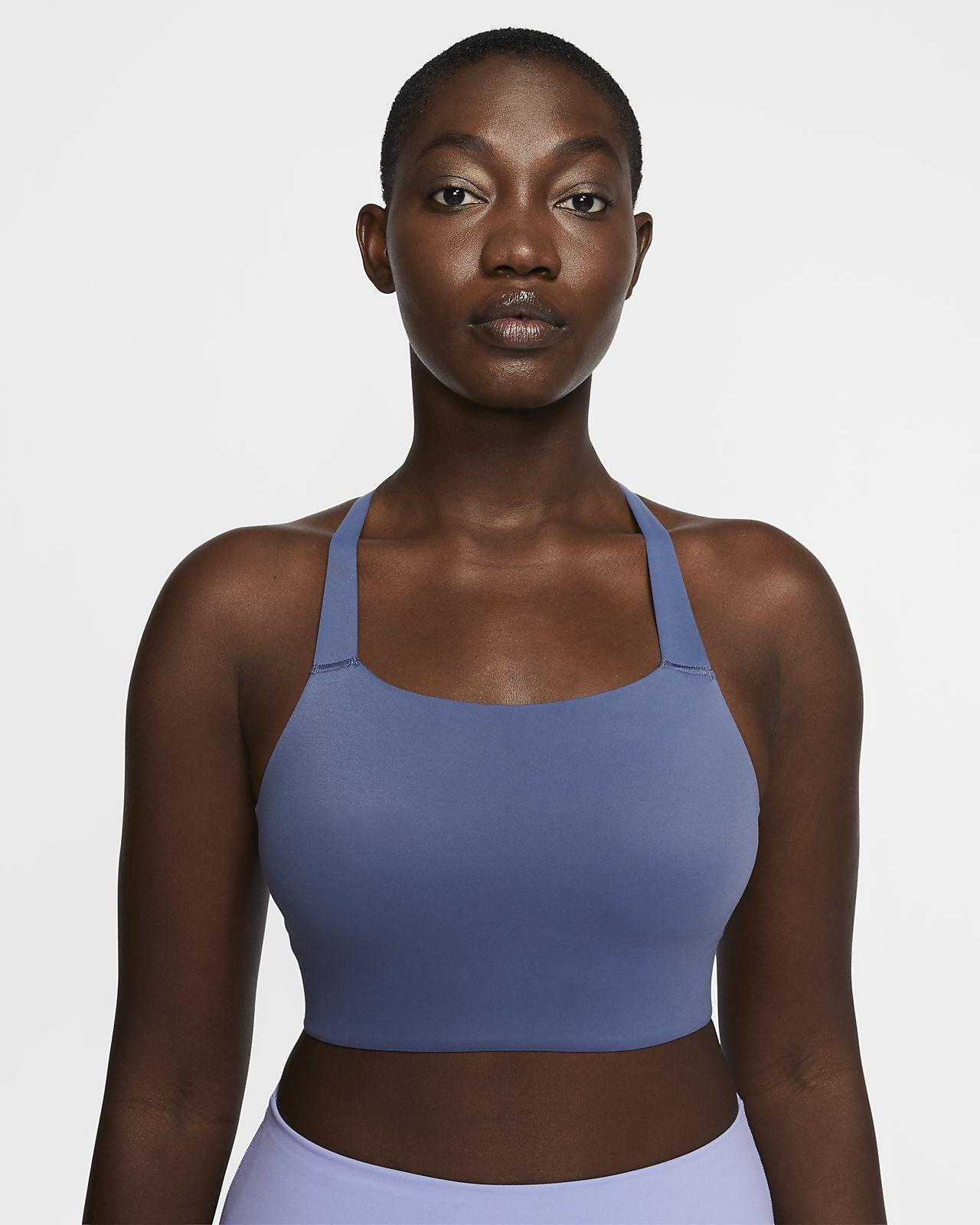 Bra a sostegno medio Nike Swoosh Luxe - Donna