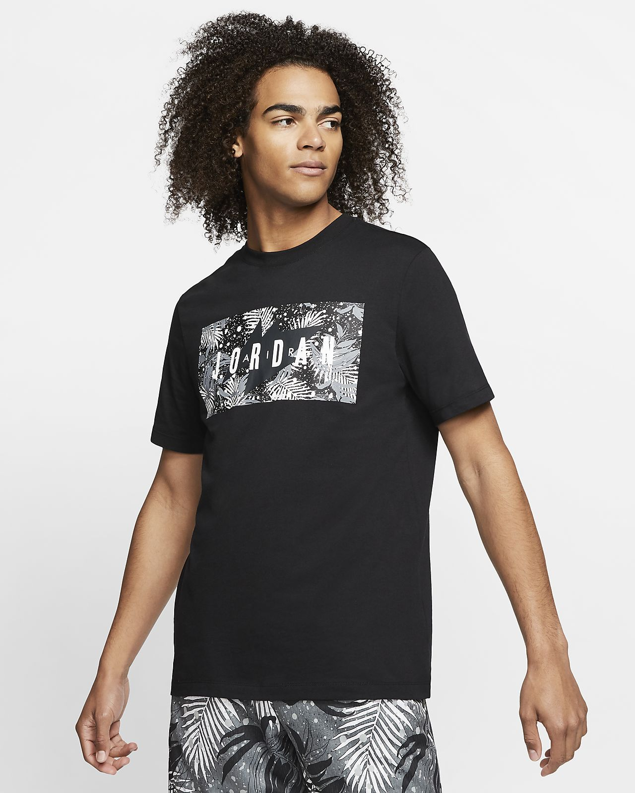T-shirt Jordan Poolside med blommönster för män