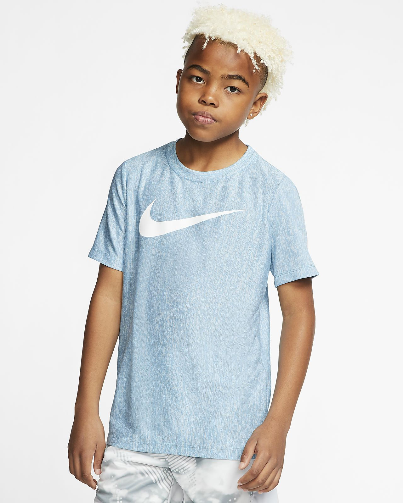 Nike Dri-FIT Boys' Short-Sleeve Training Top