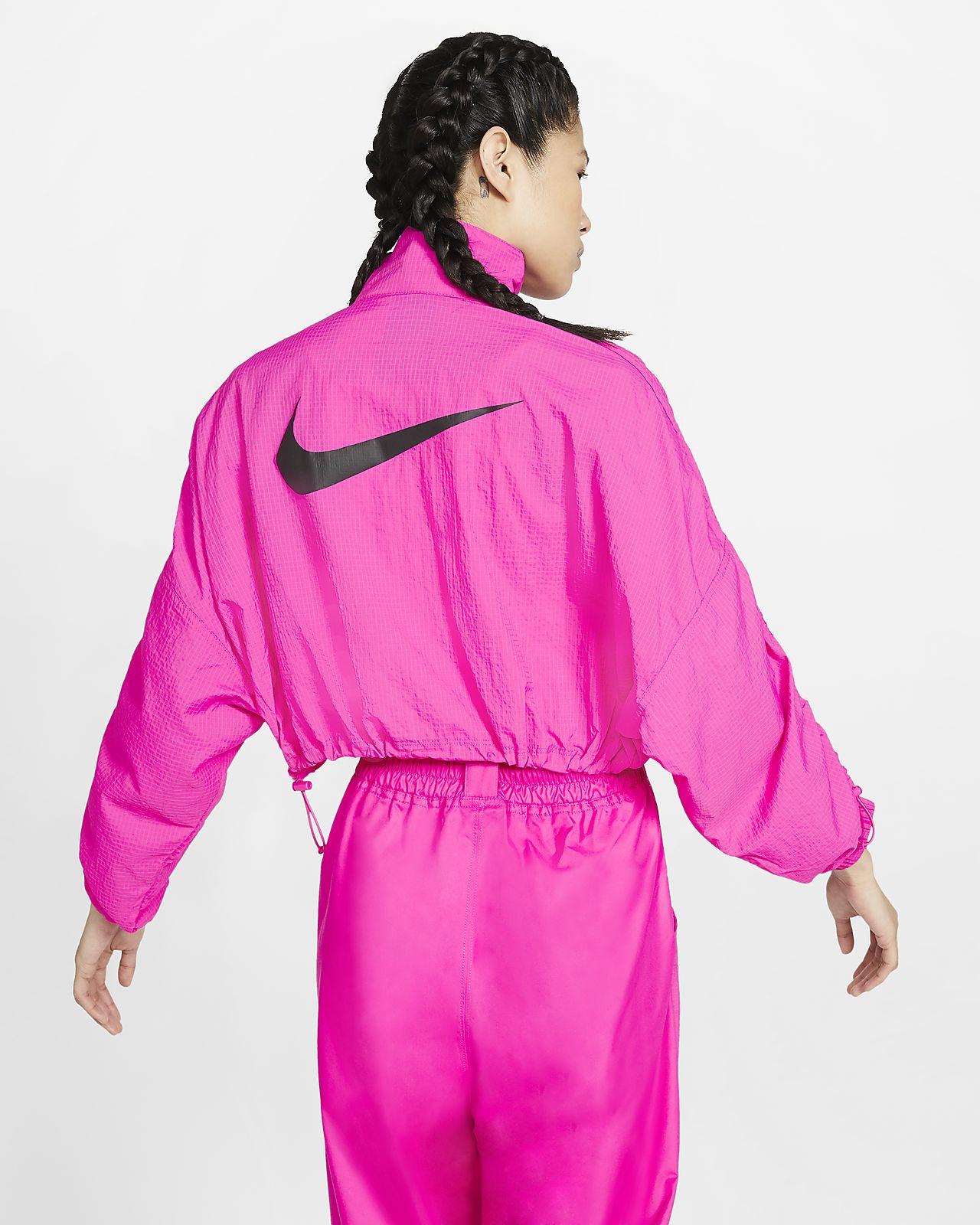 veste tissée à capuche pour homme nike sportswear swoosh