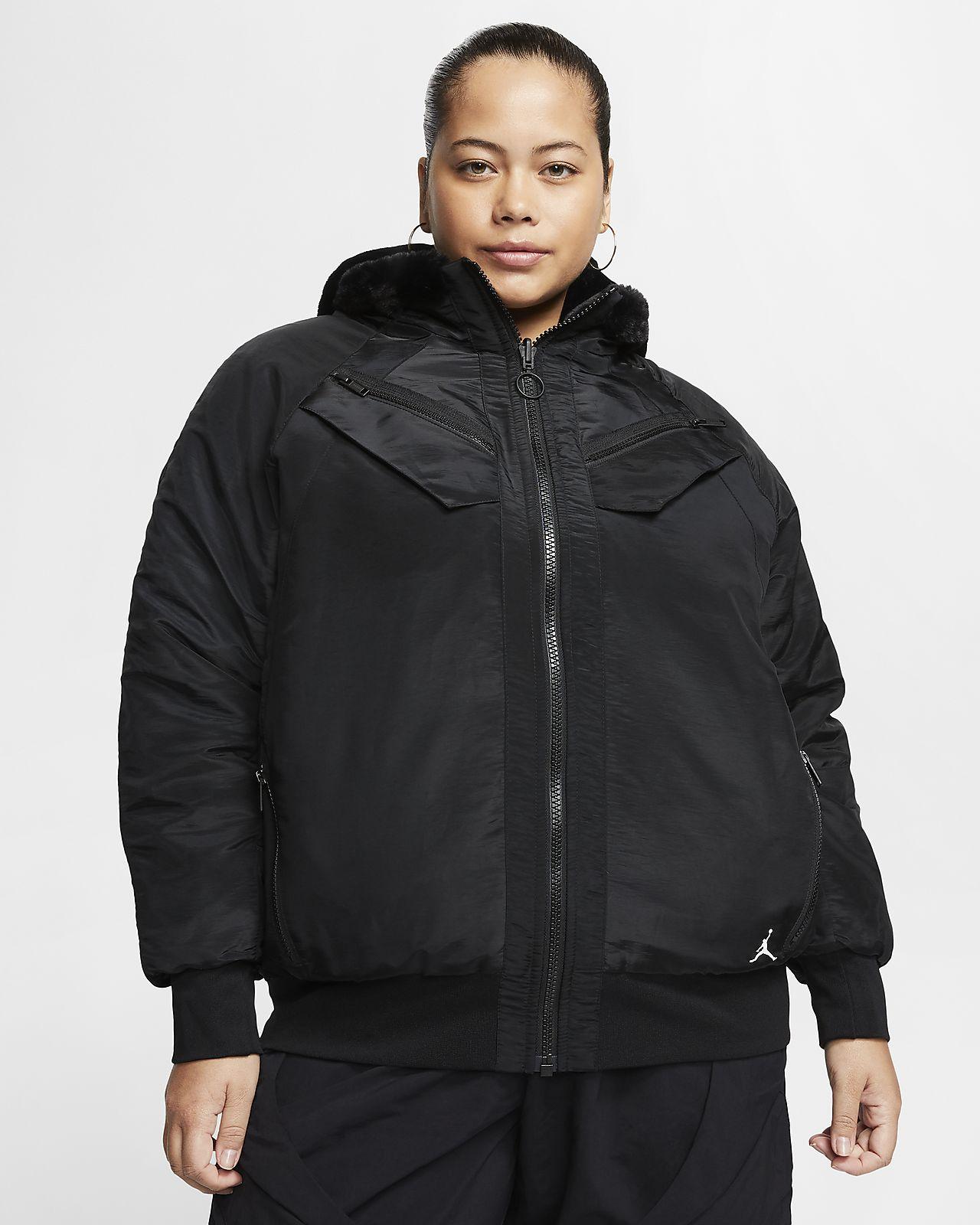 Vendbar Jordan bomberjakke til kvinder (Plus Size). Nike DK