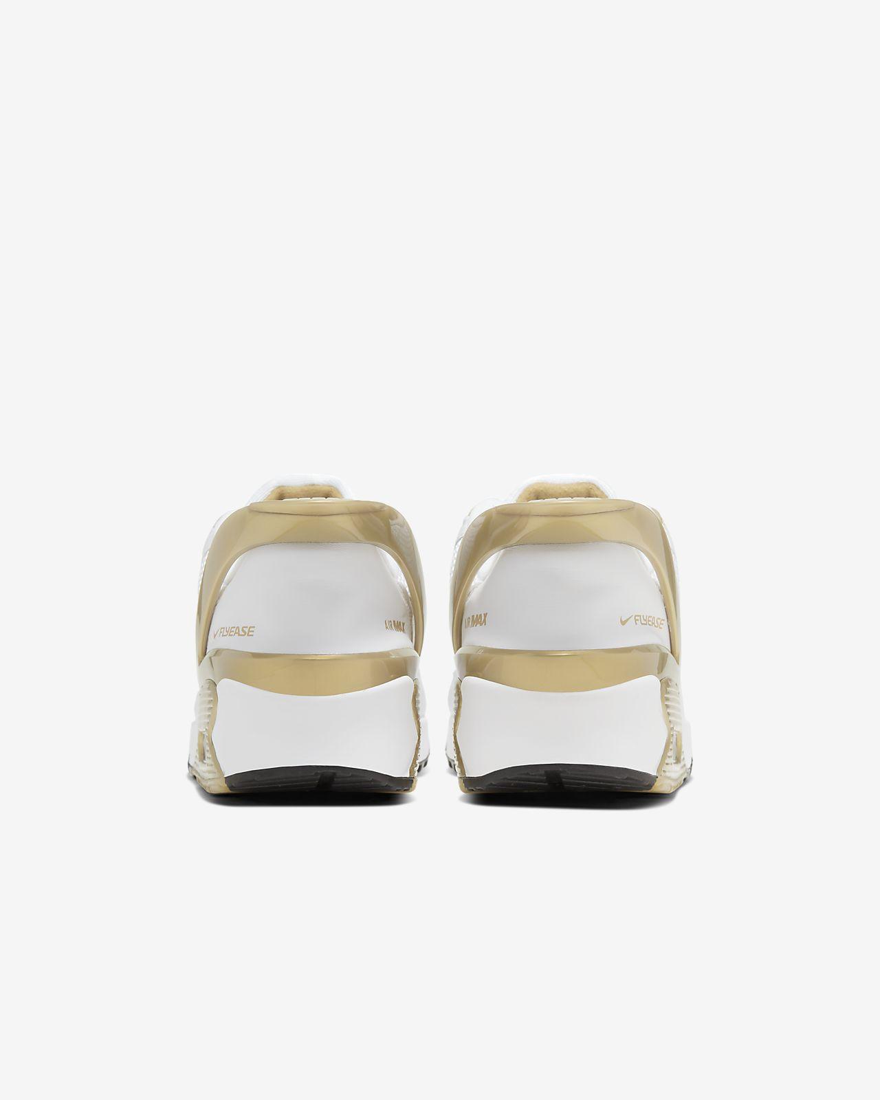 Nike Air Max 90 FlyEase White Metallic Gold CU0814 100