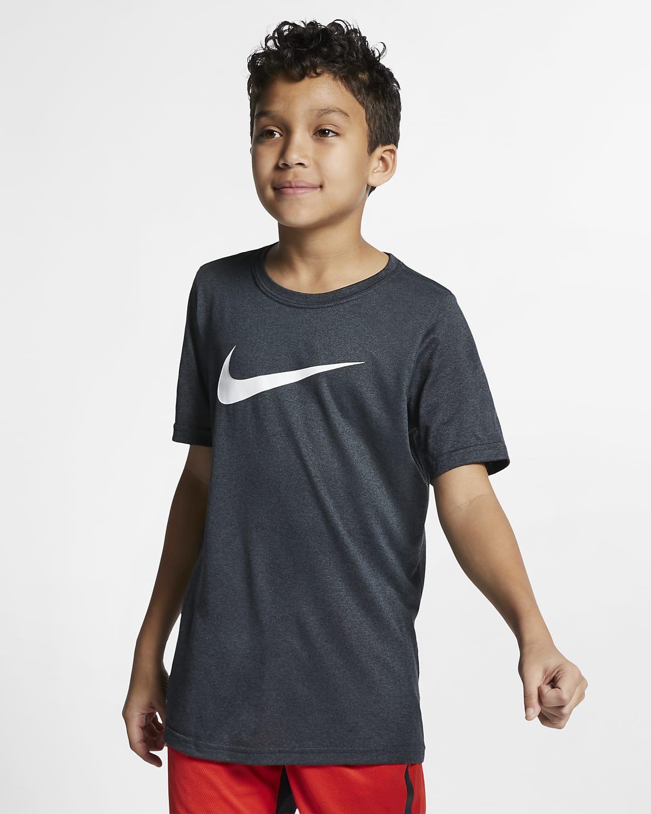 Nike Dri-FIT Big Kids' Swoosh Training T-Shirt