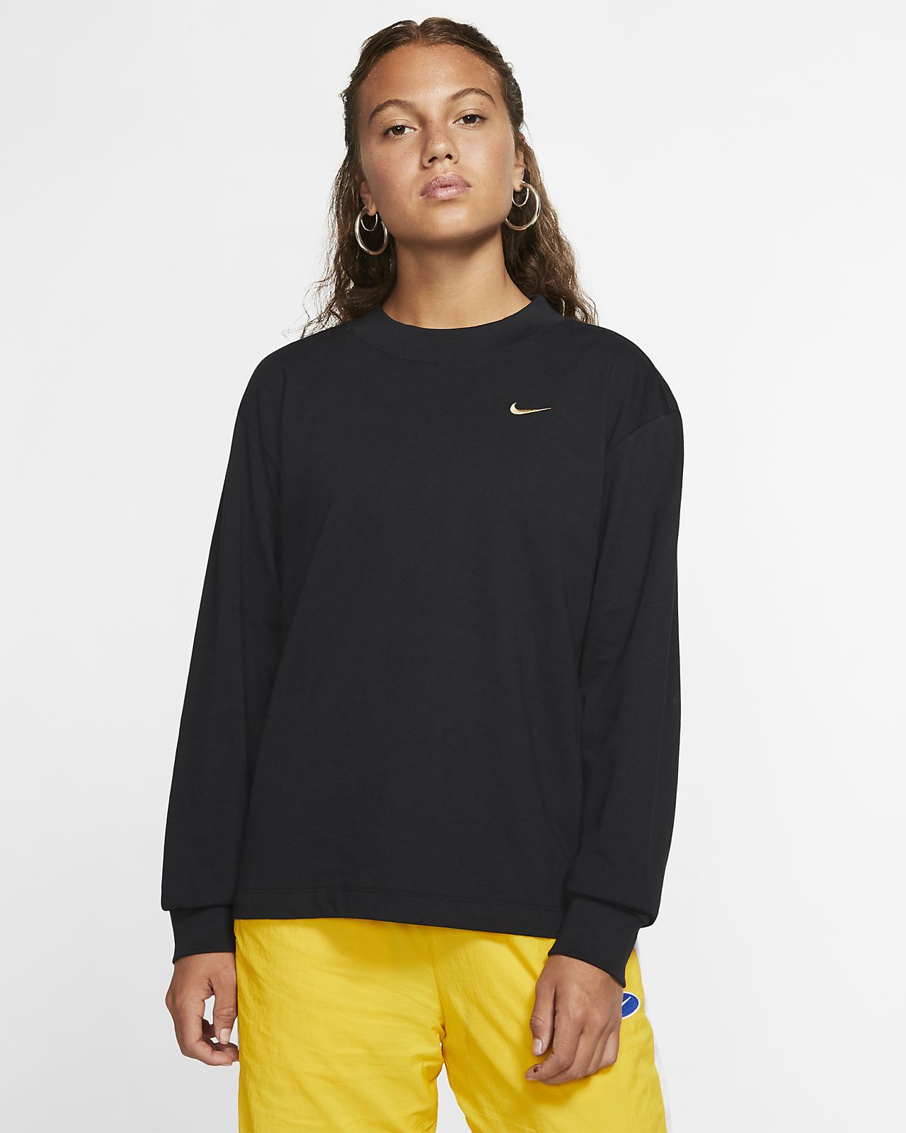 Available Women Nike Air Long Sleeve T Shirt Black