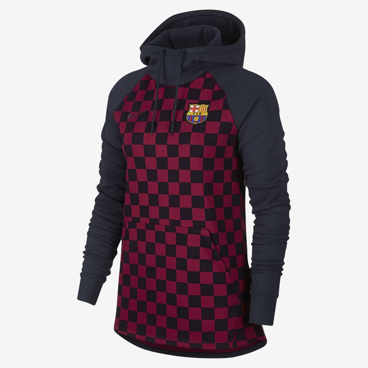 FC Barcelona Women's Fleece Pullover Hoodie